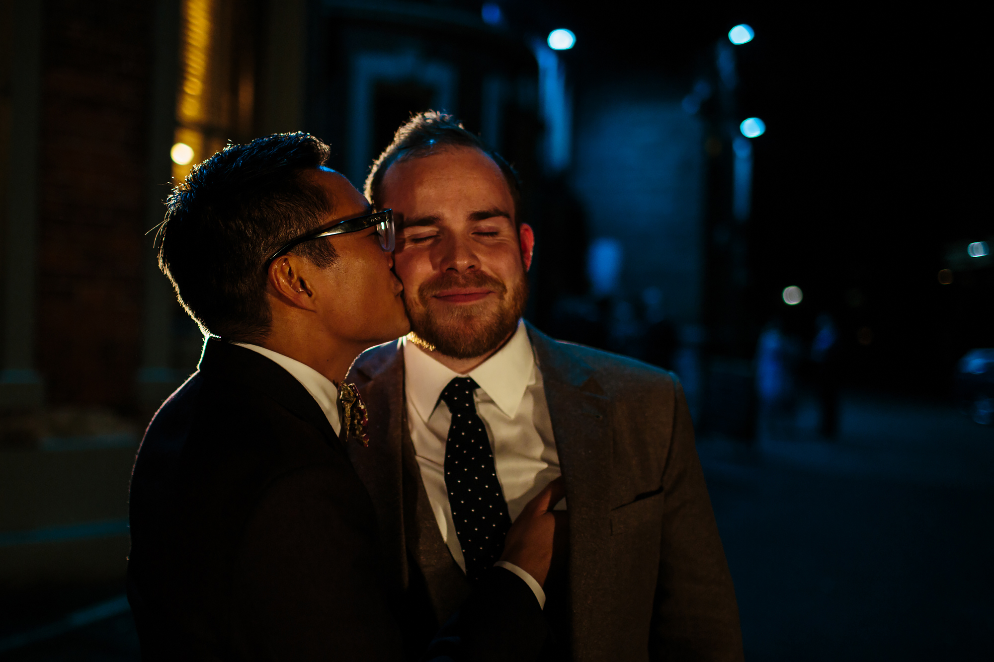 Grooms portrait at a gay wedding at The Faversham Leeds