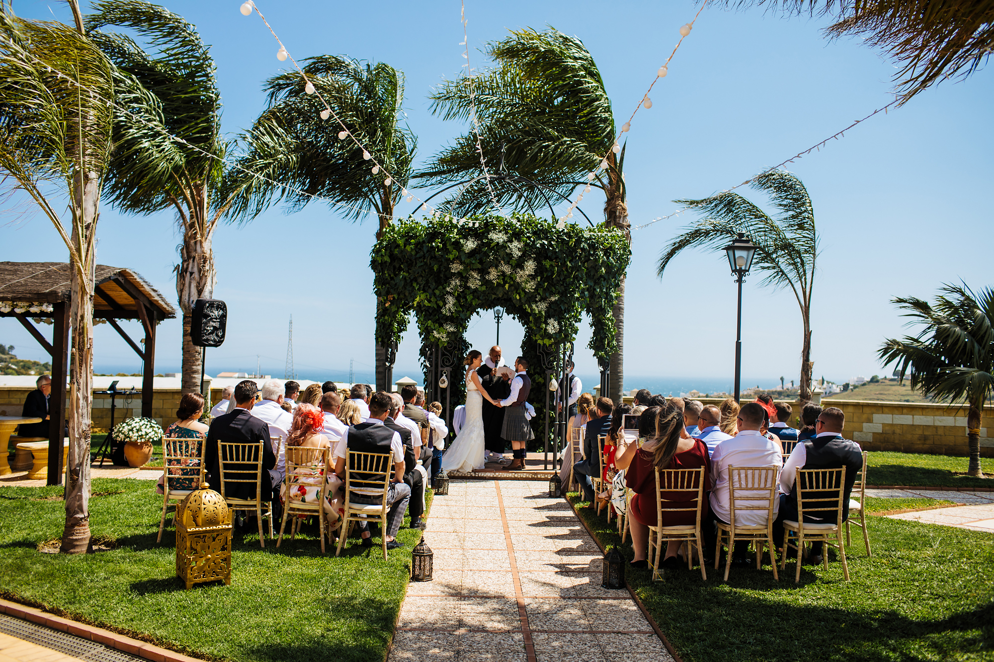 Cortijo Maria Luisa Nerja Spain outdoor ceremony
