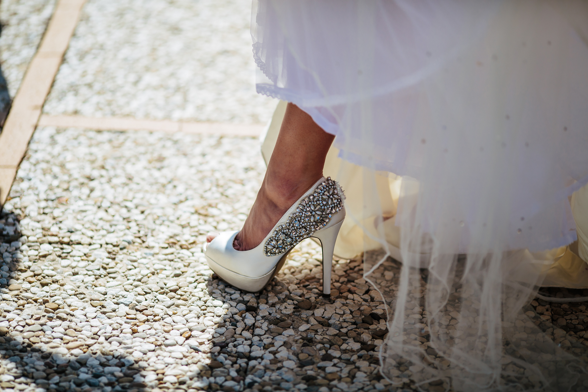 Bride's shoes at a Costa Del Sol wedding