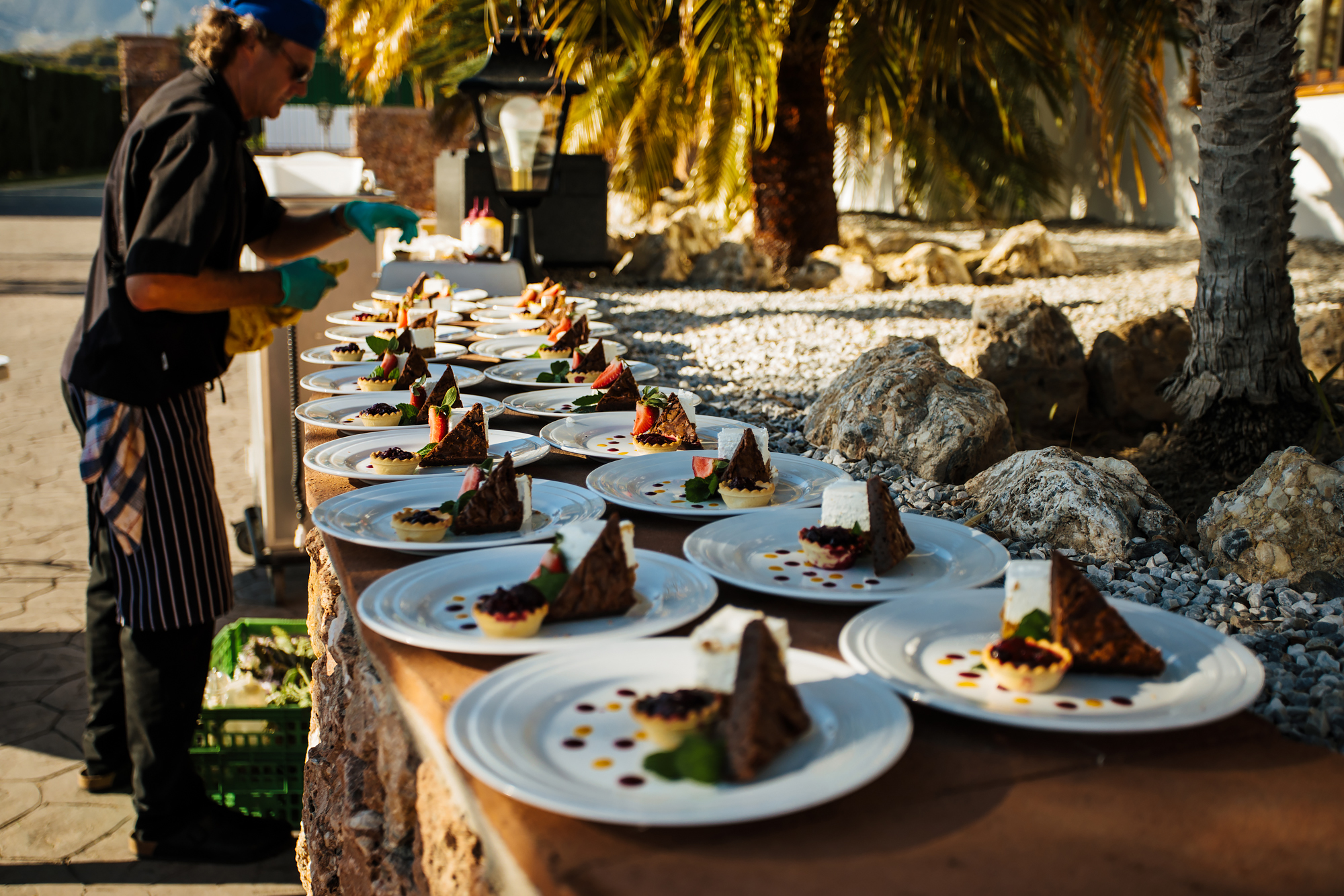 Desserts at a wedding at Cortijo Maria Luisa Nerja Spain