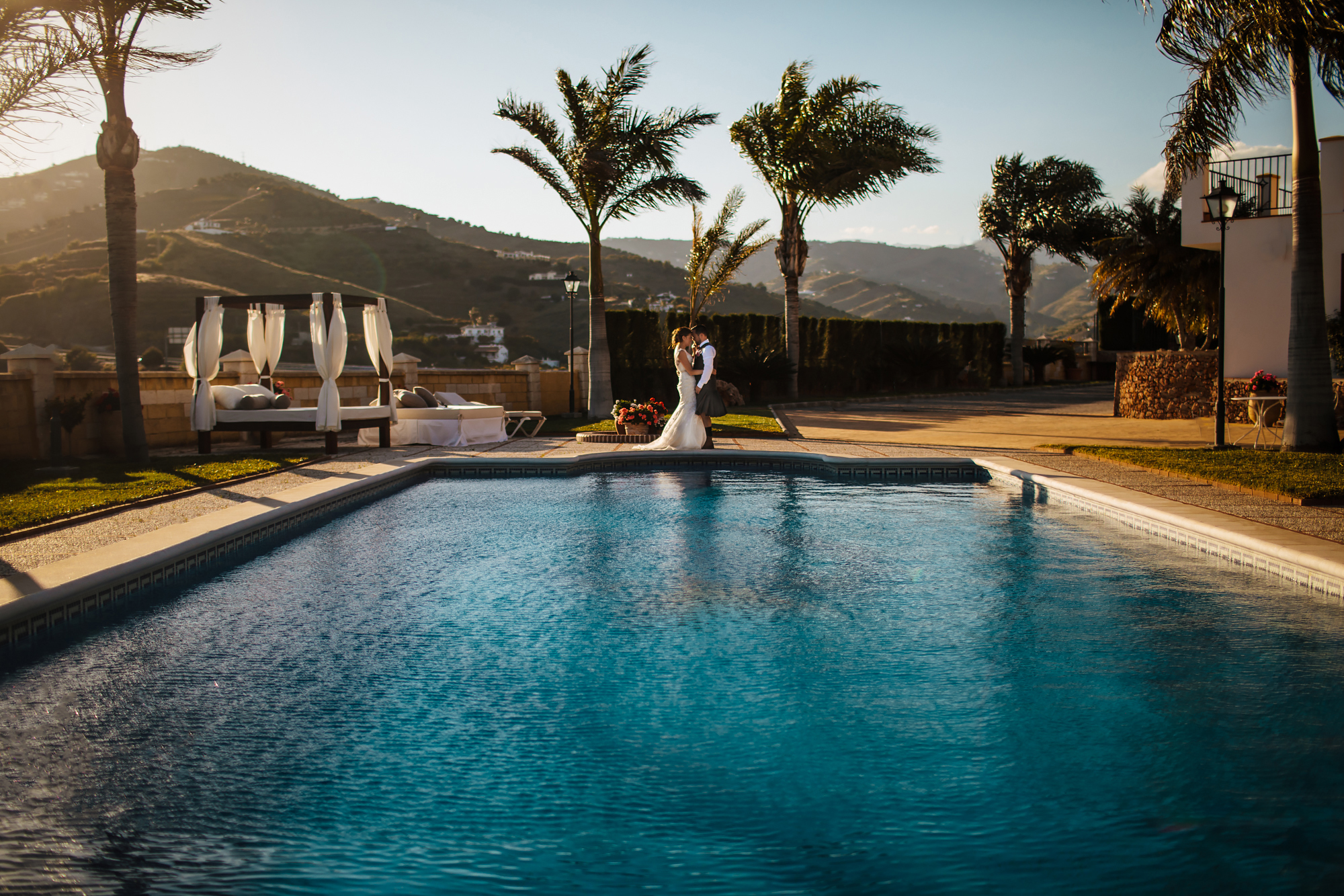 Swimming pool portrait at Cortijo Maria Luisa Nerja Spain