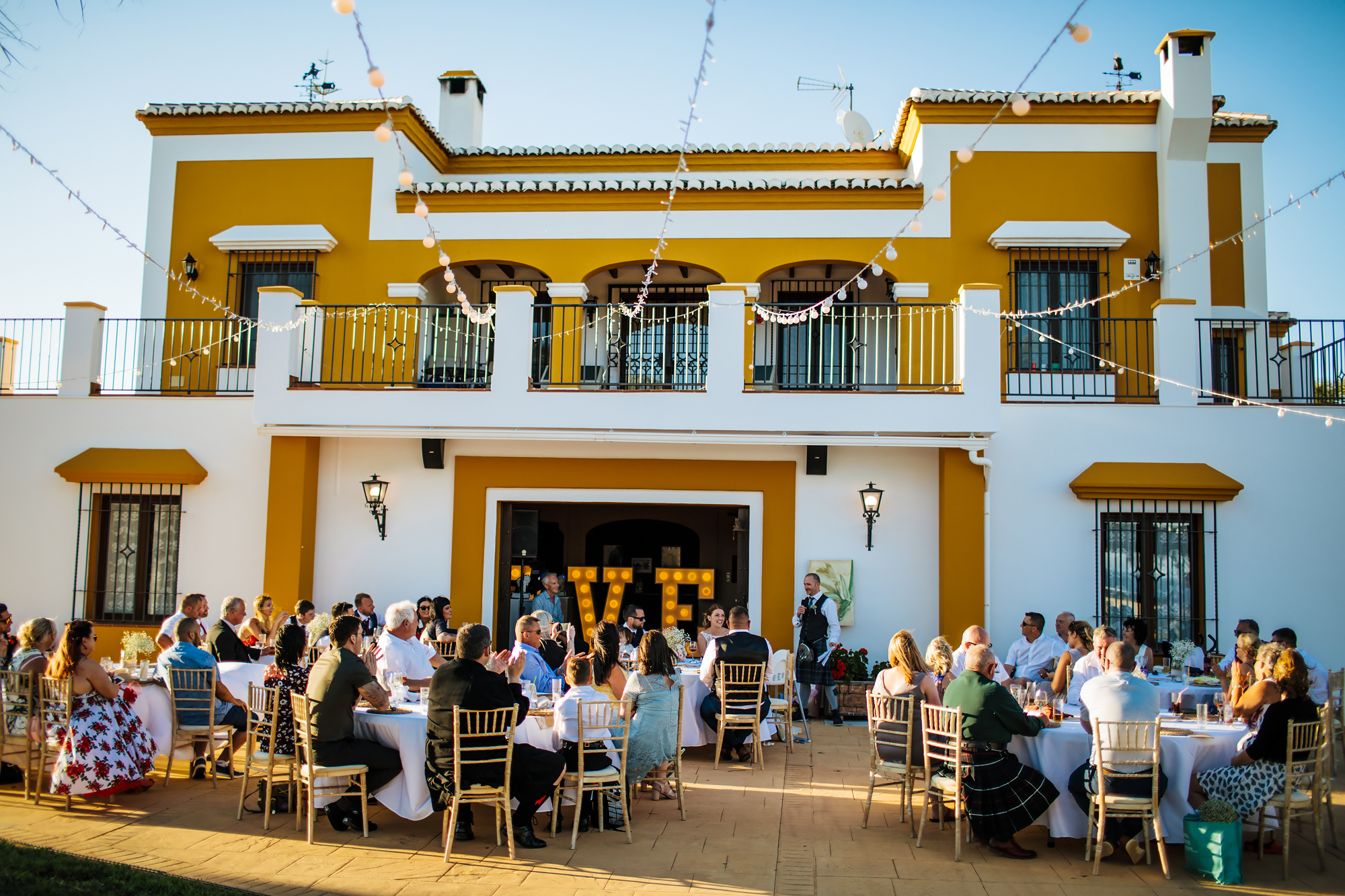 Food time at Cortijo Maria Luisa Nerja Spain