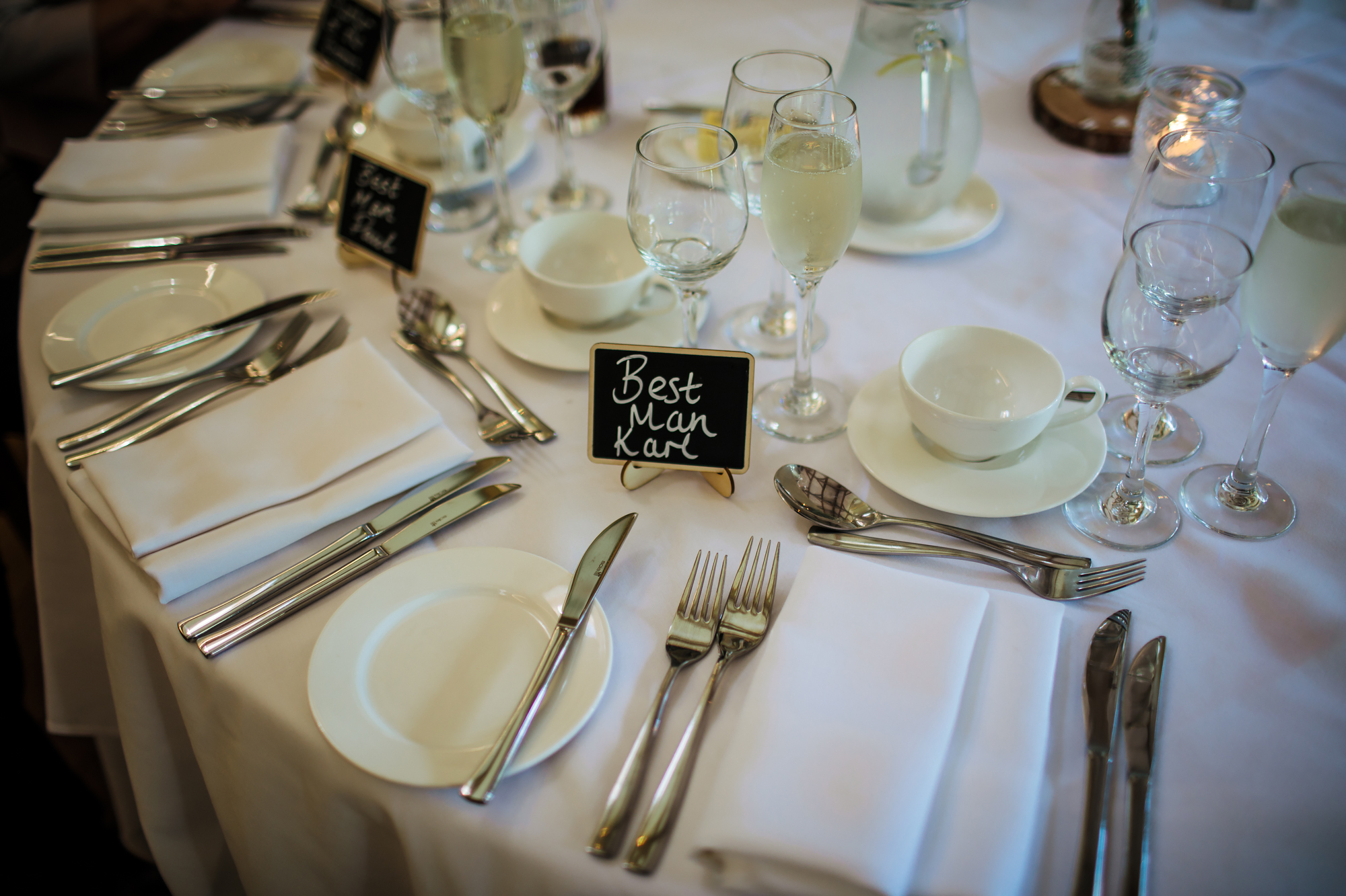 Best man table sign at Mill Barns Wedding Venue Shropshire