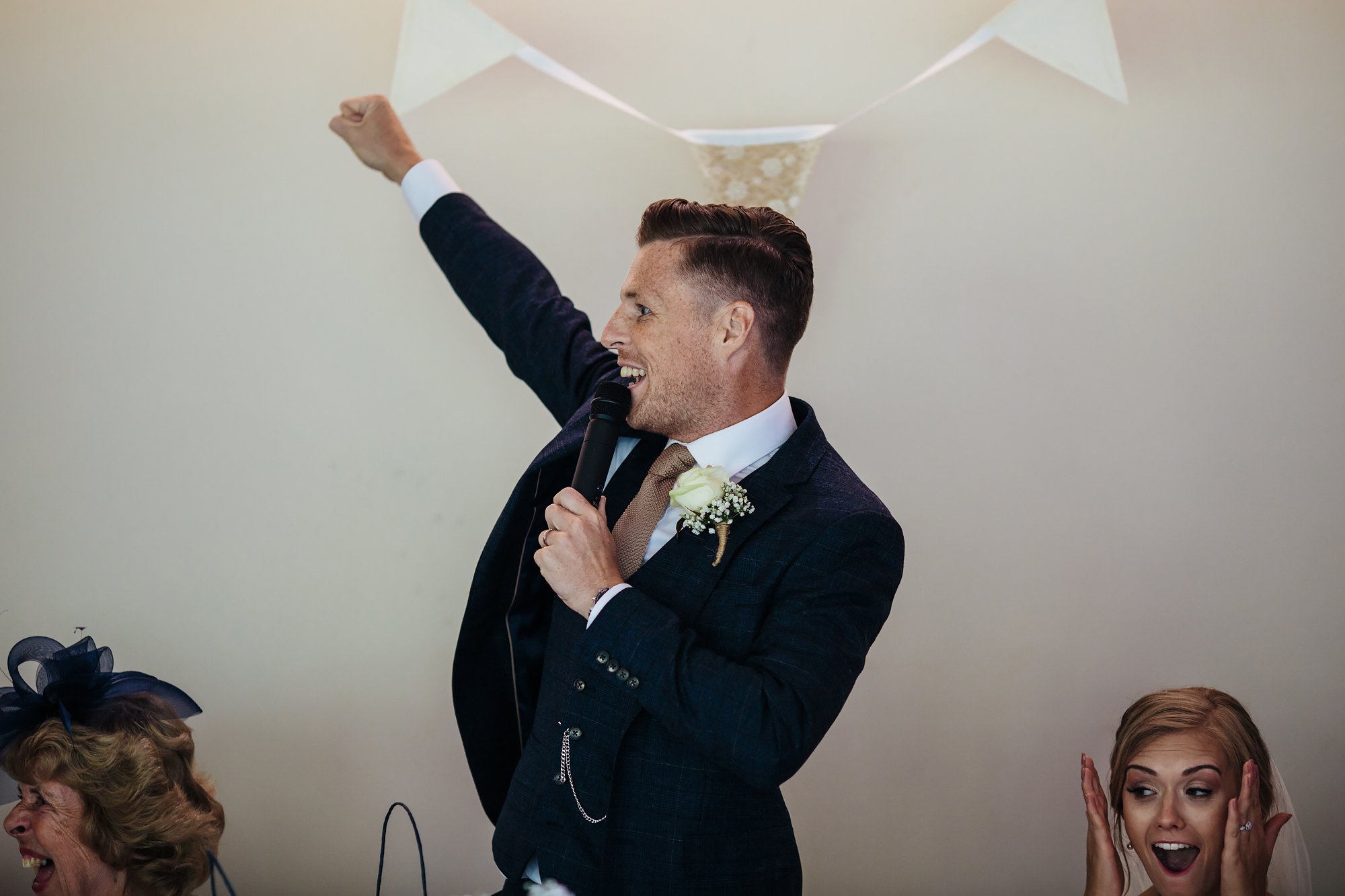 Grooms speech at Mill Barns Wedding Venue Shropshire