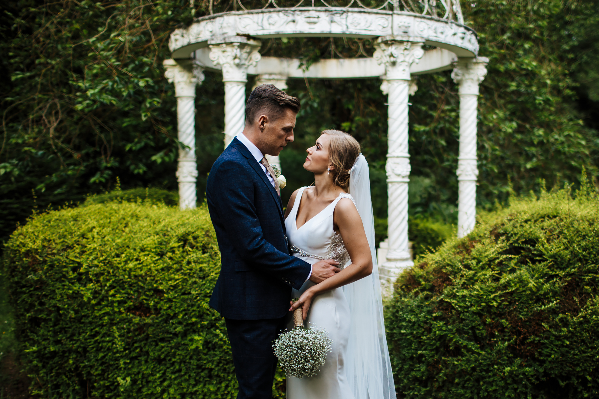 Couple portrait at a Shropshire wedding