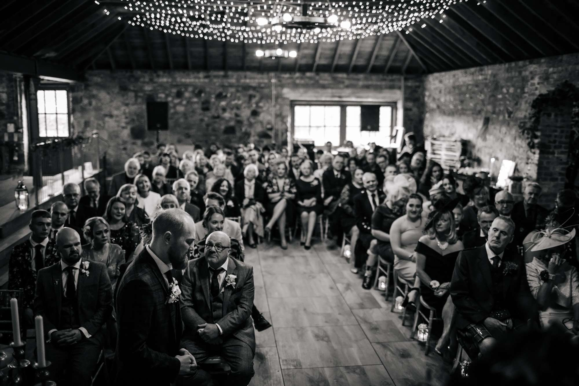Groom saying his vows at a wedding in Yorkshire