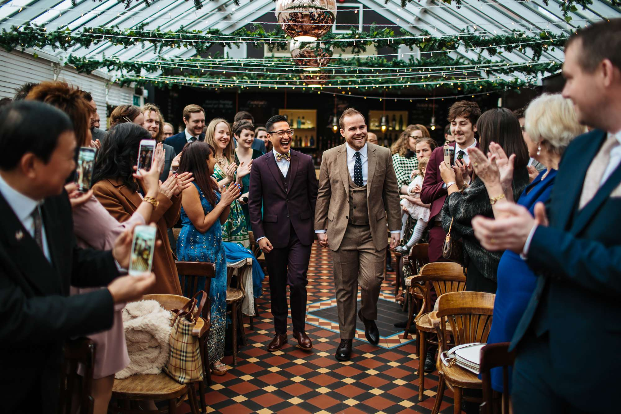 Gay wedding at the Faversham in Leeds Yorkshire