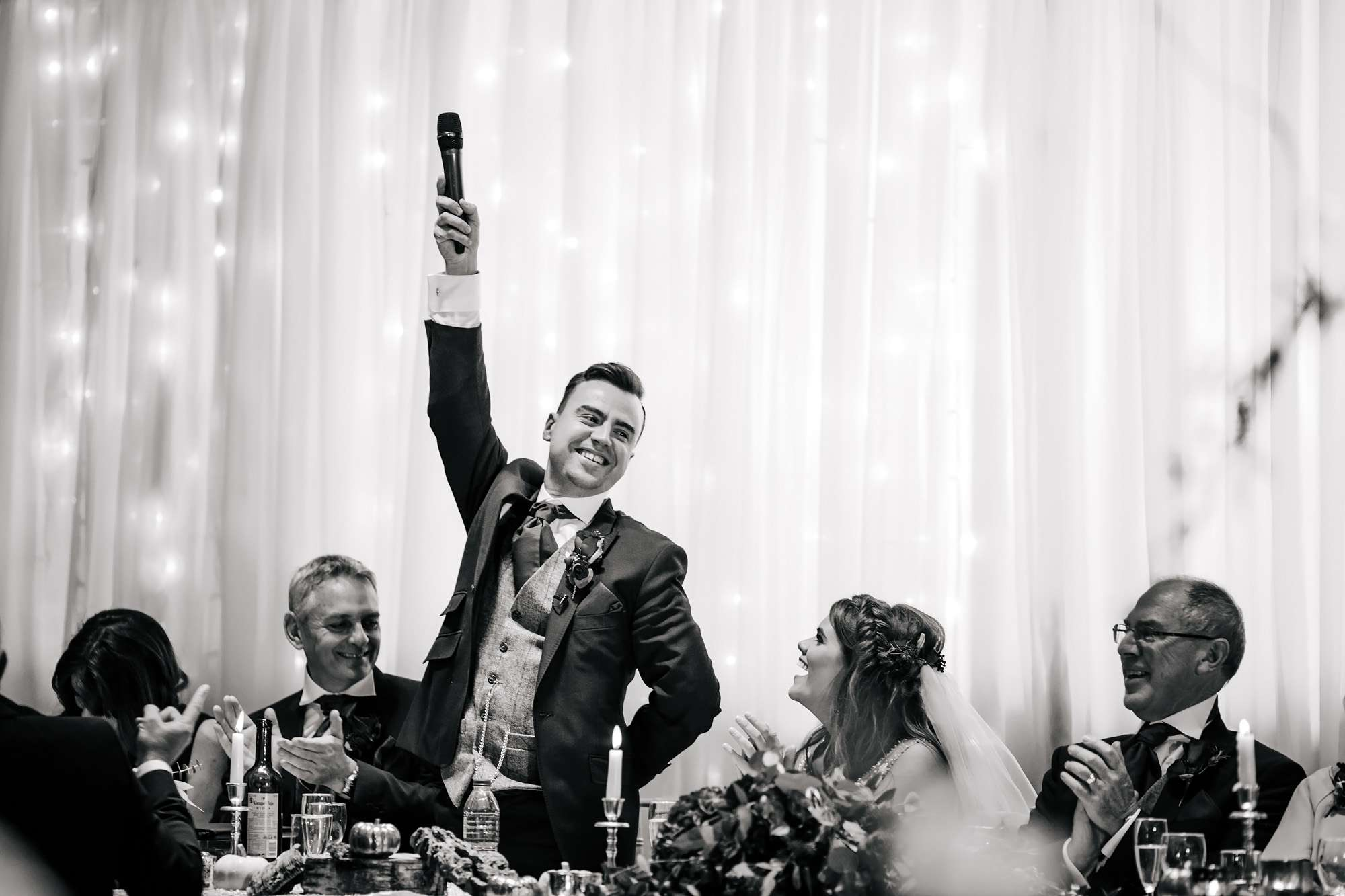 Funny groom speech at a wedding in Yorkshire