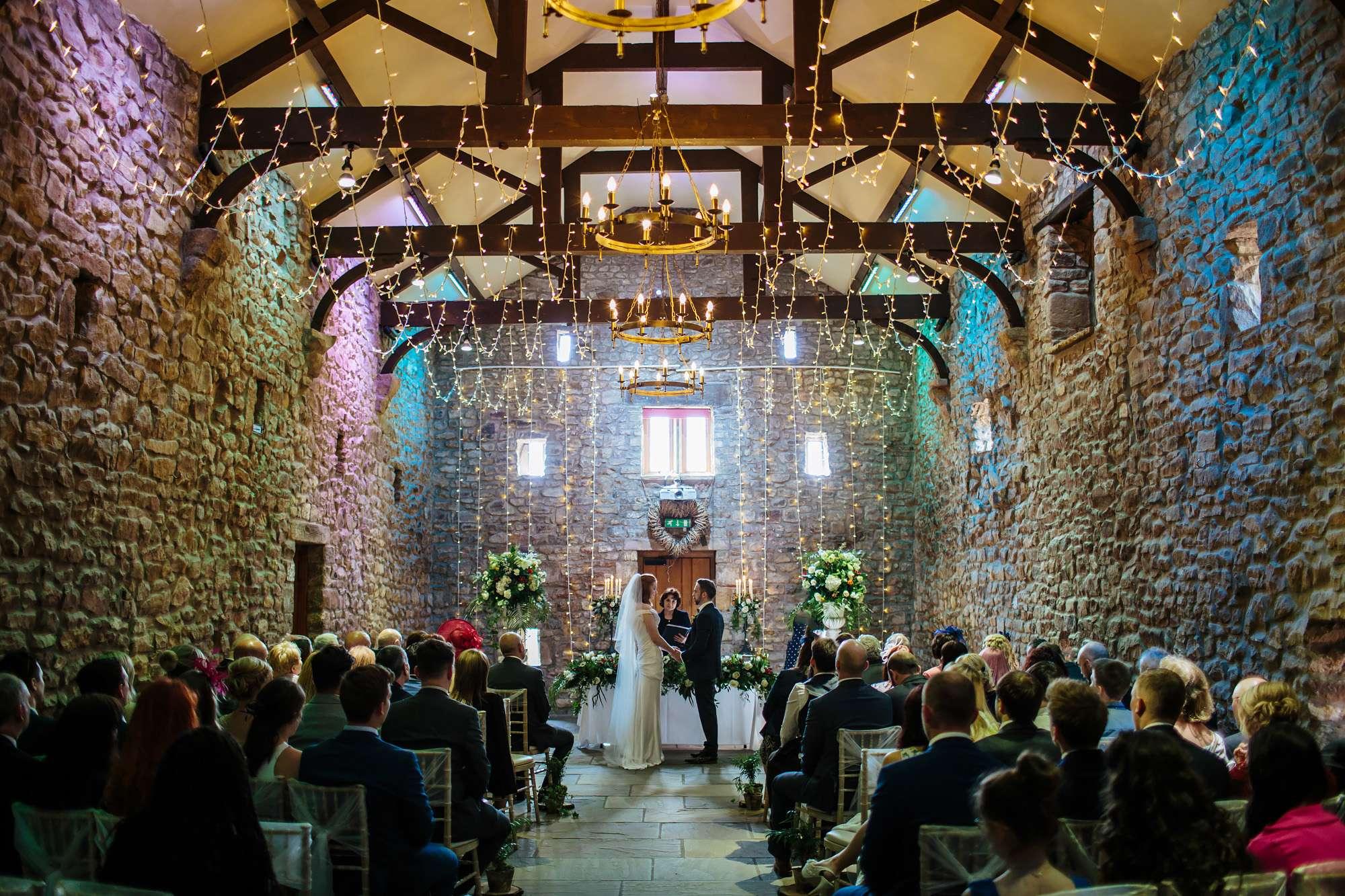 Bride and groom at Browsholme Hall Wedding