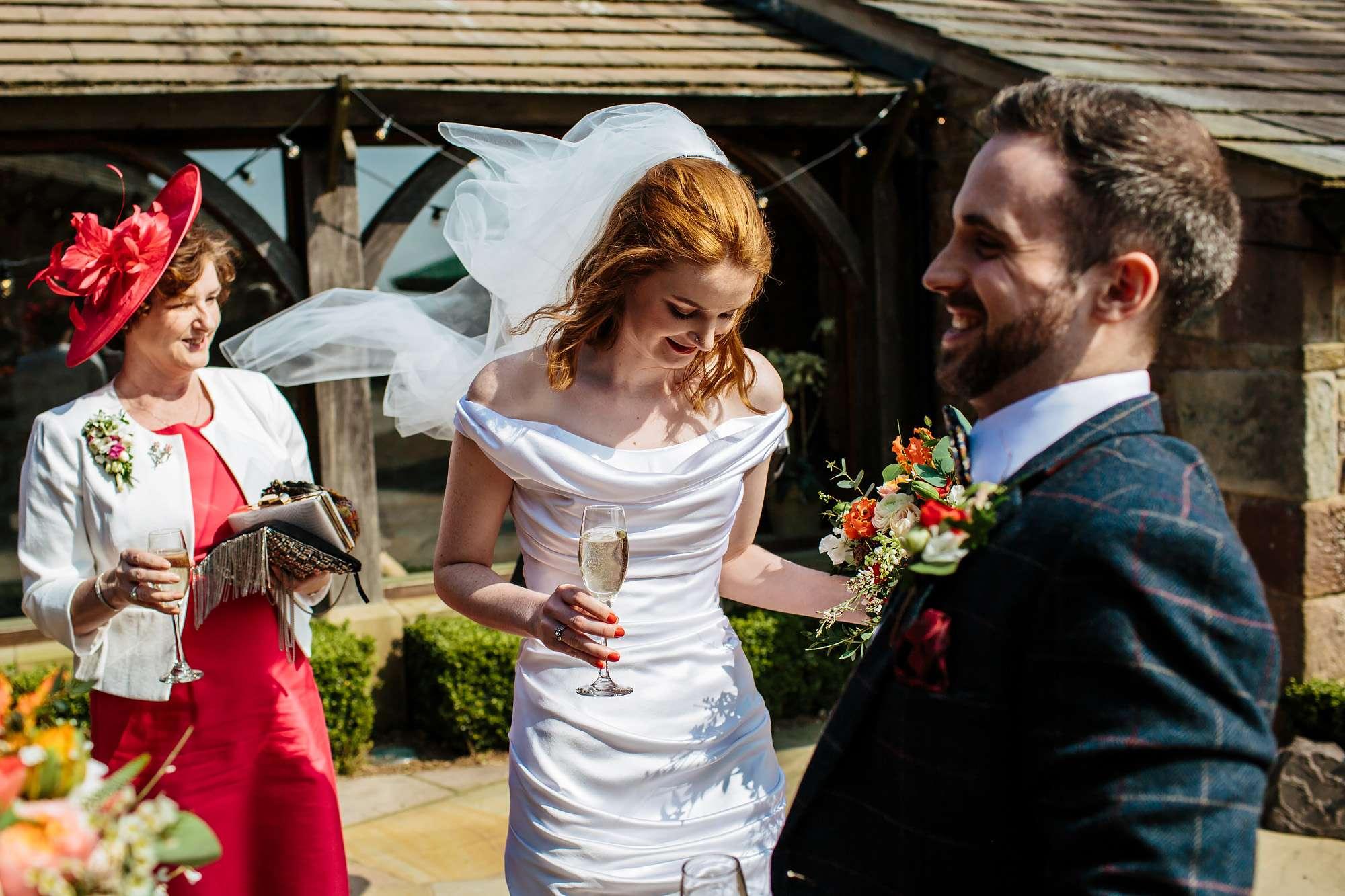 Bride on her wedding day in Lancashire