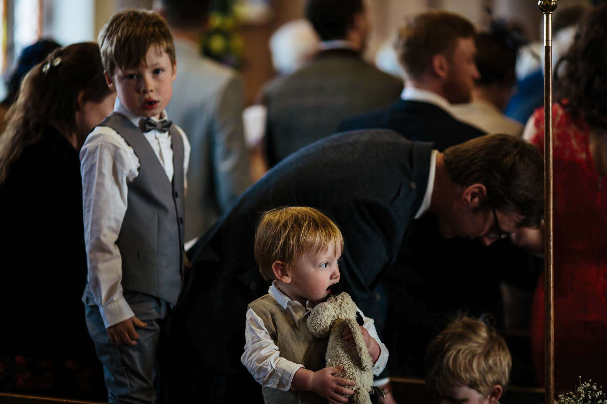 Young boys at a Lake District wedding