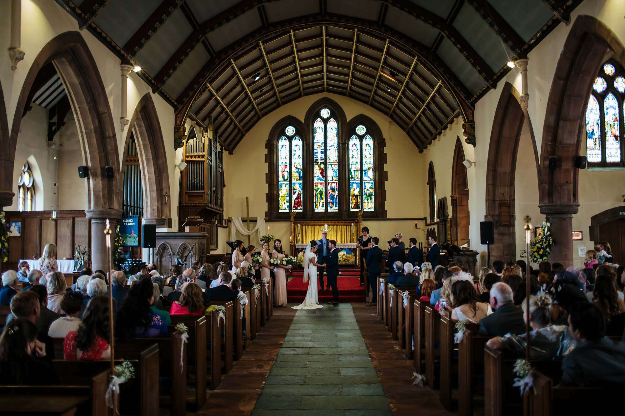 Lake District wedding photographer in Keswick church