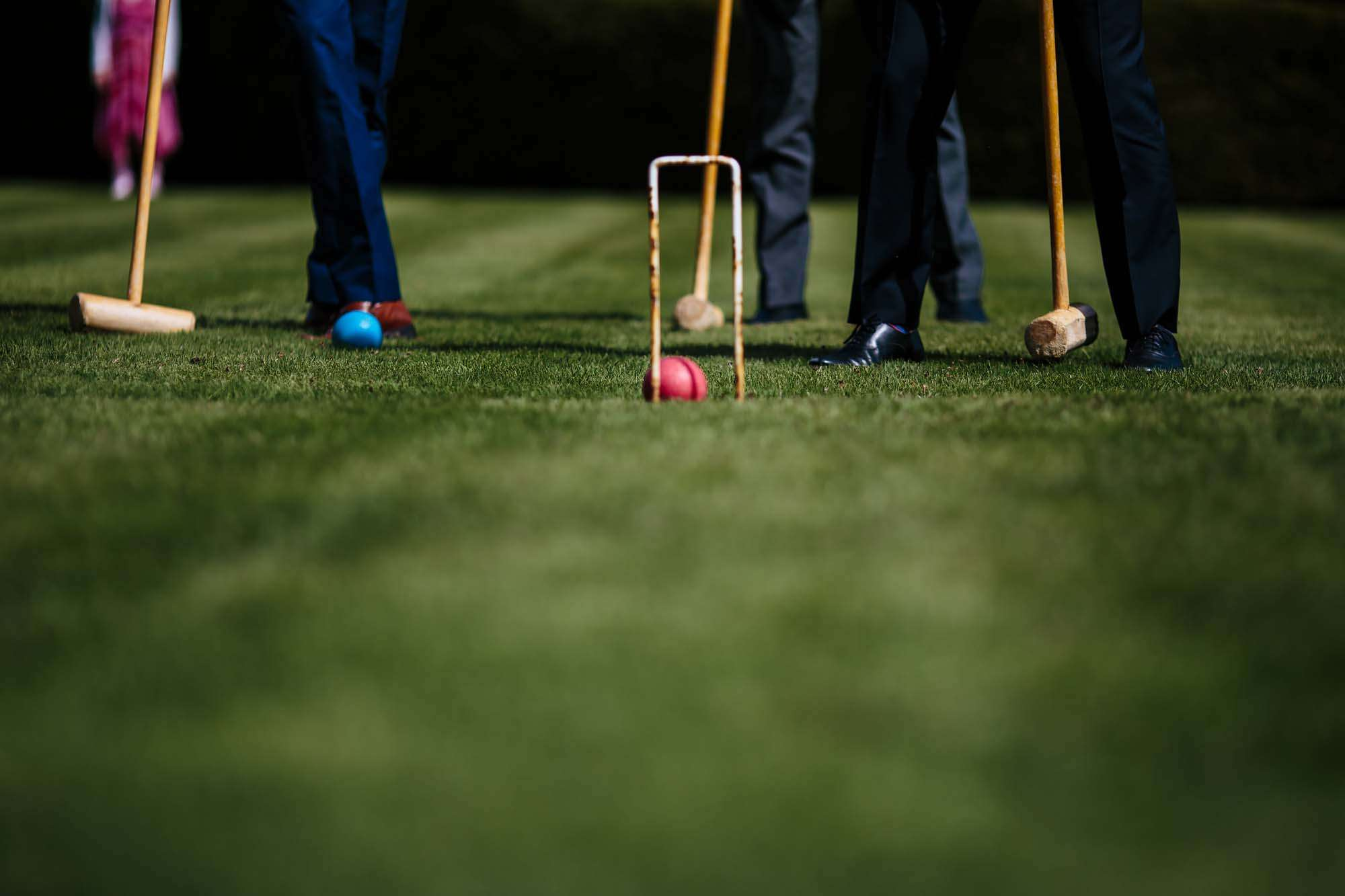 Croquet at a wedding in the sunshine