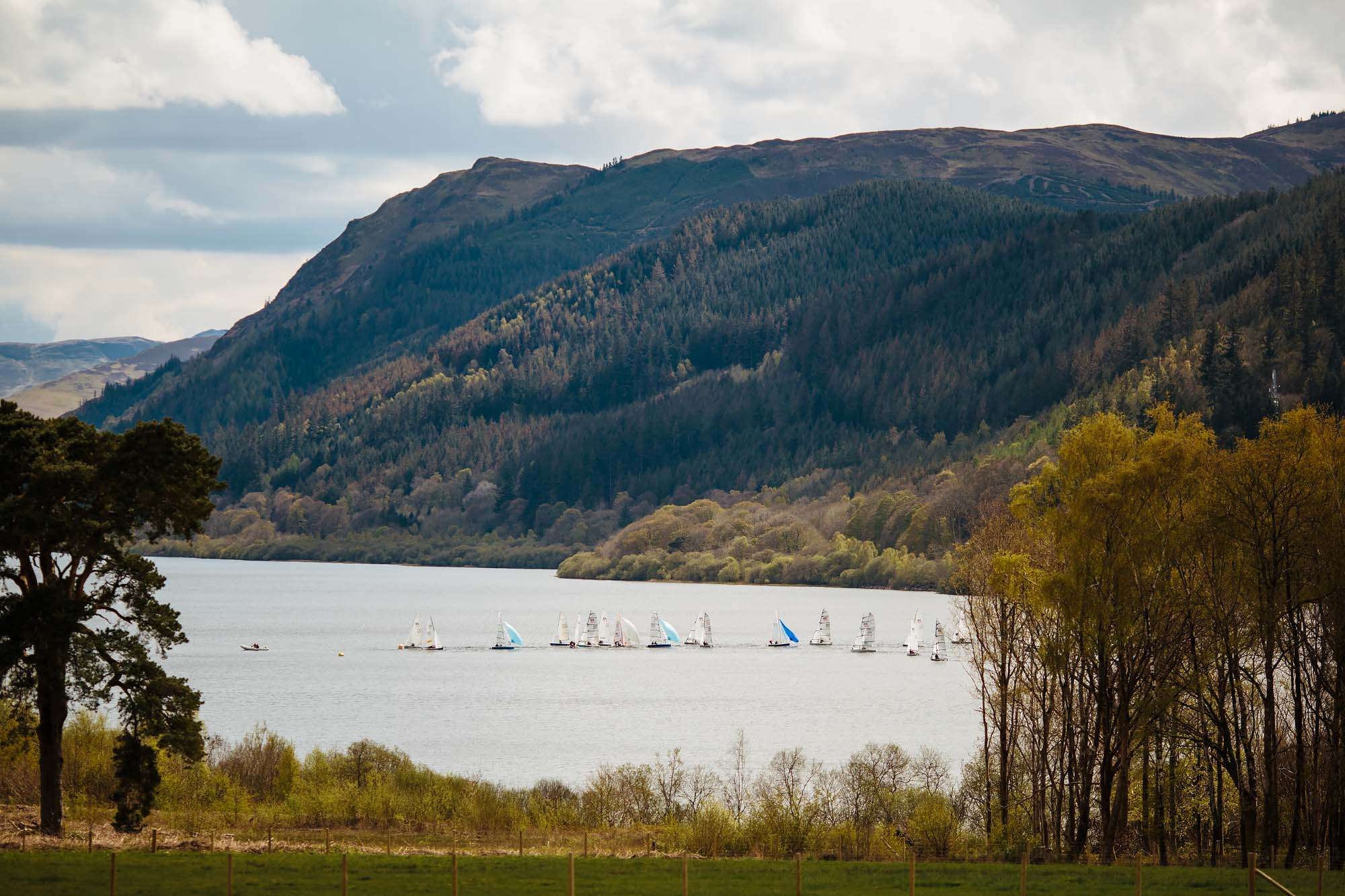 Sailing boats on Lake Bassenthwaite