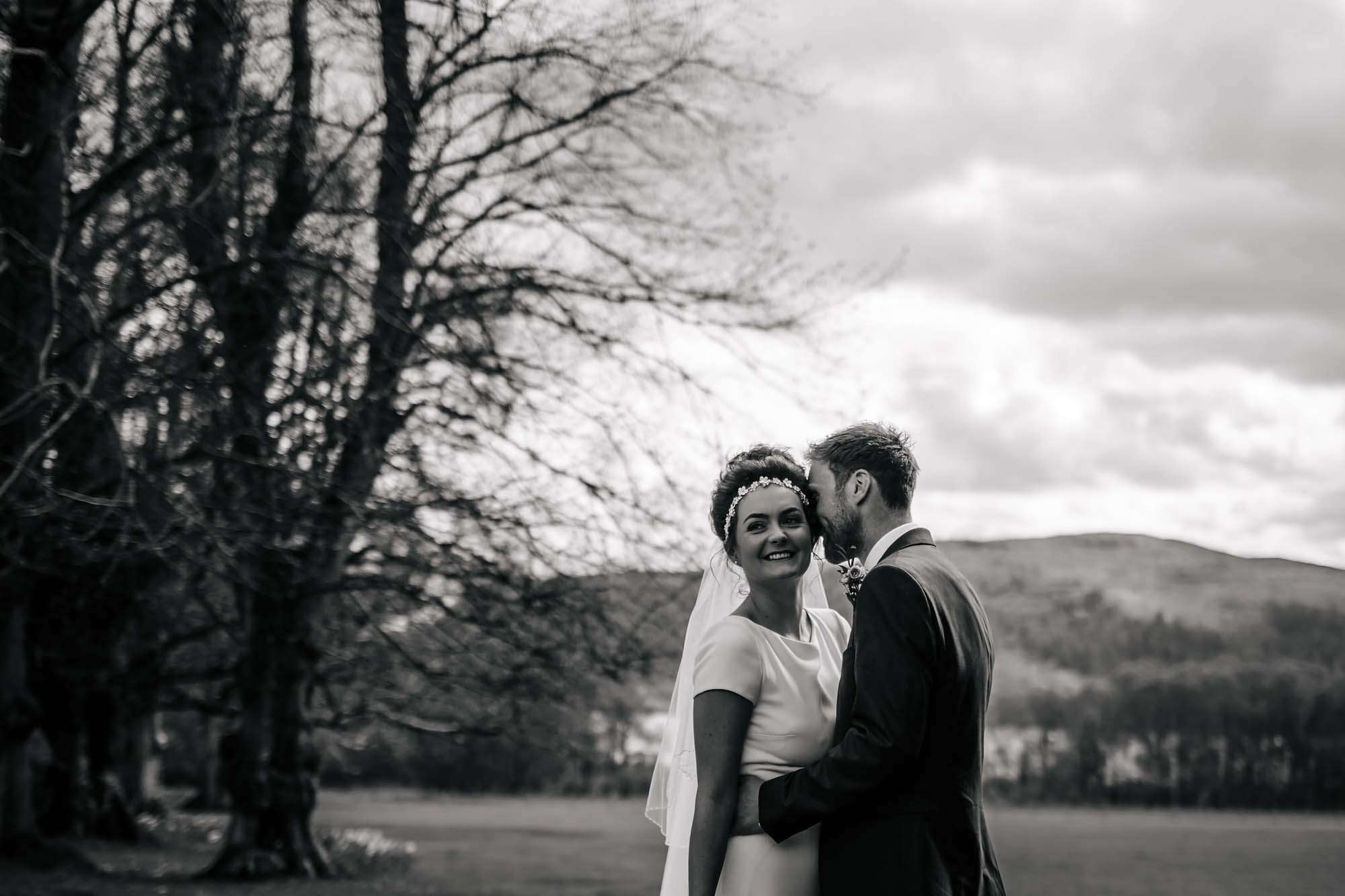Bride and groom at Armathwaite Hall