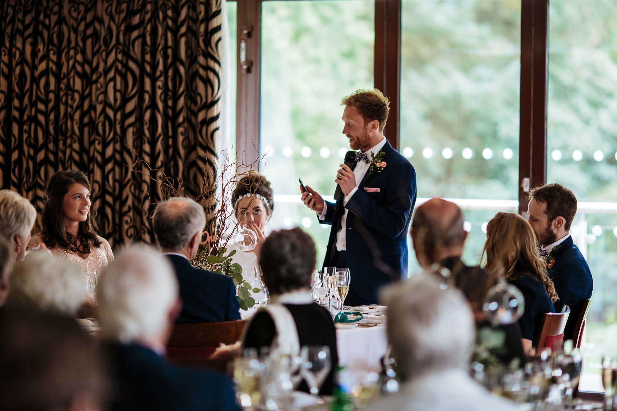Grooms speech at his wedding at Armathwaite Hall