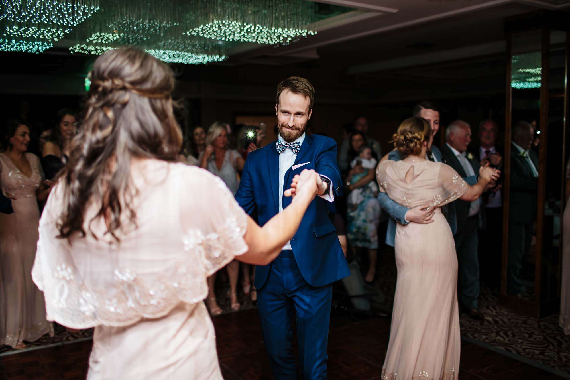 Guests dancing at a Lake District wedding