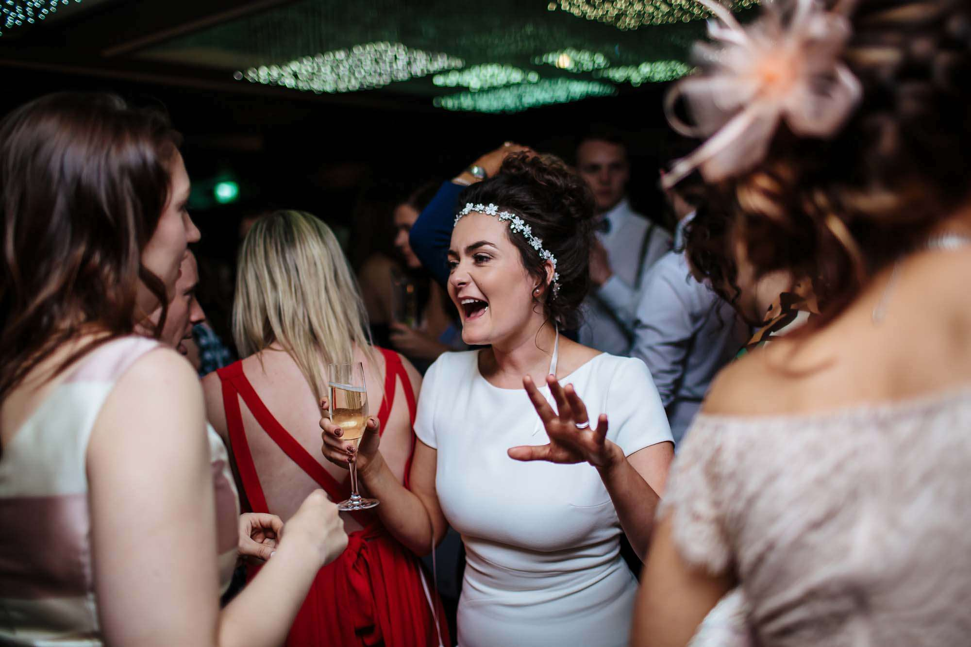Bride dancing at her Lake District wedding