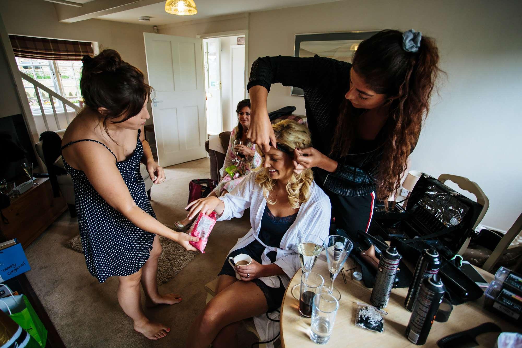 Bridal preparations in Leeds