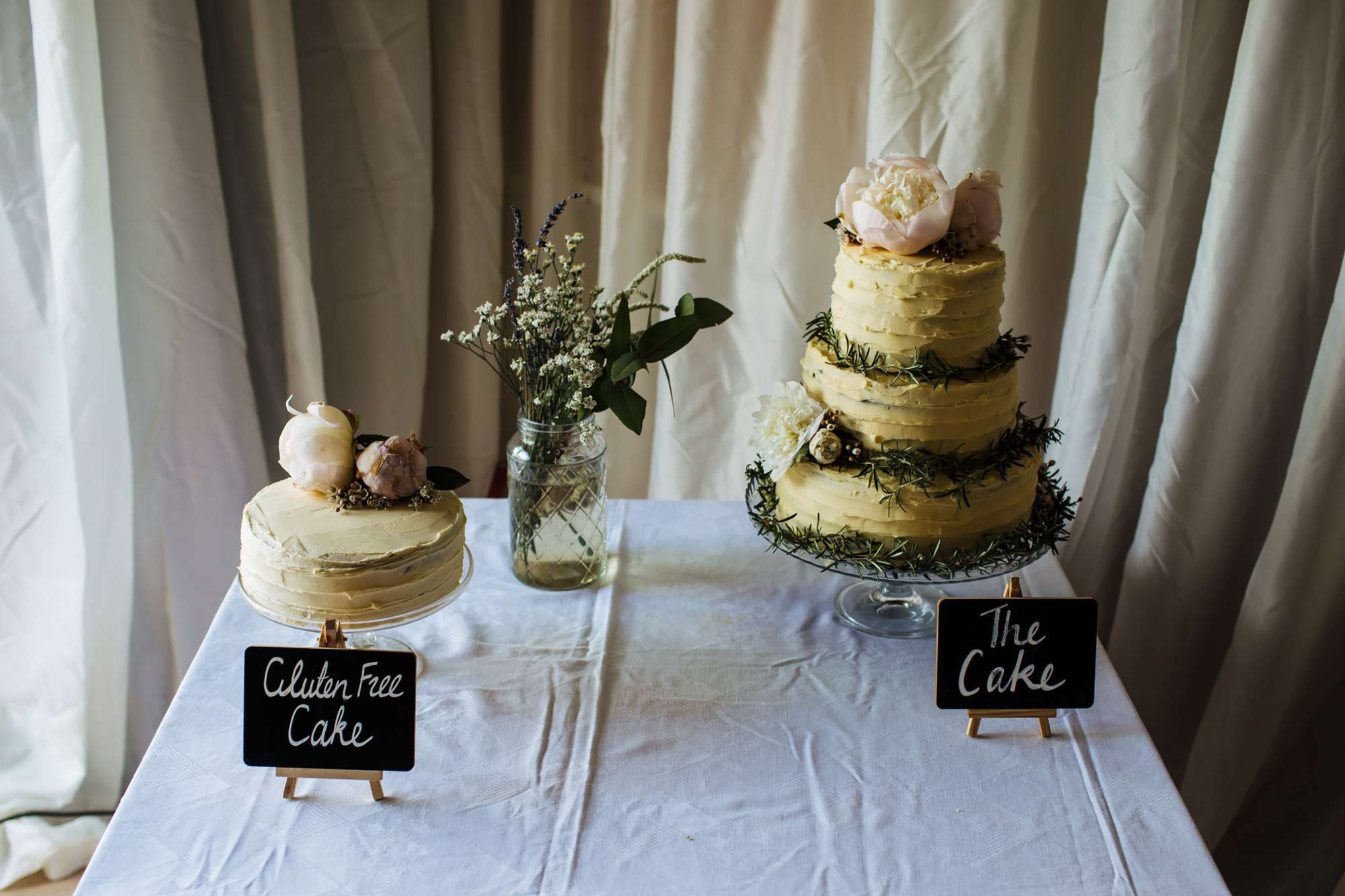 Wedding cakes at East Keswick Village Hall