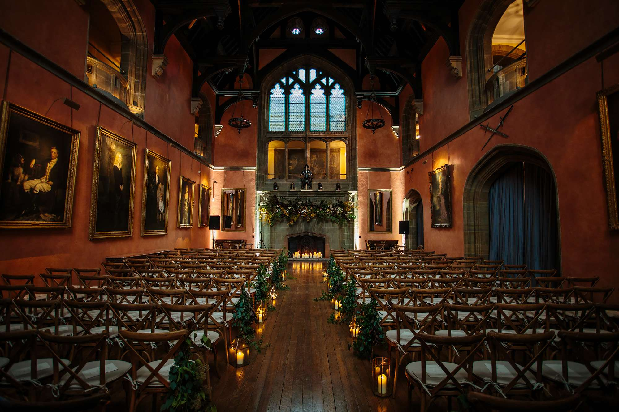 Teh ceremony room at a Cowdray House wedding