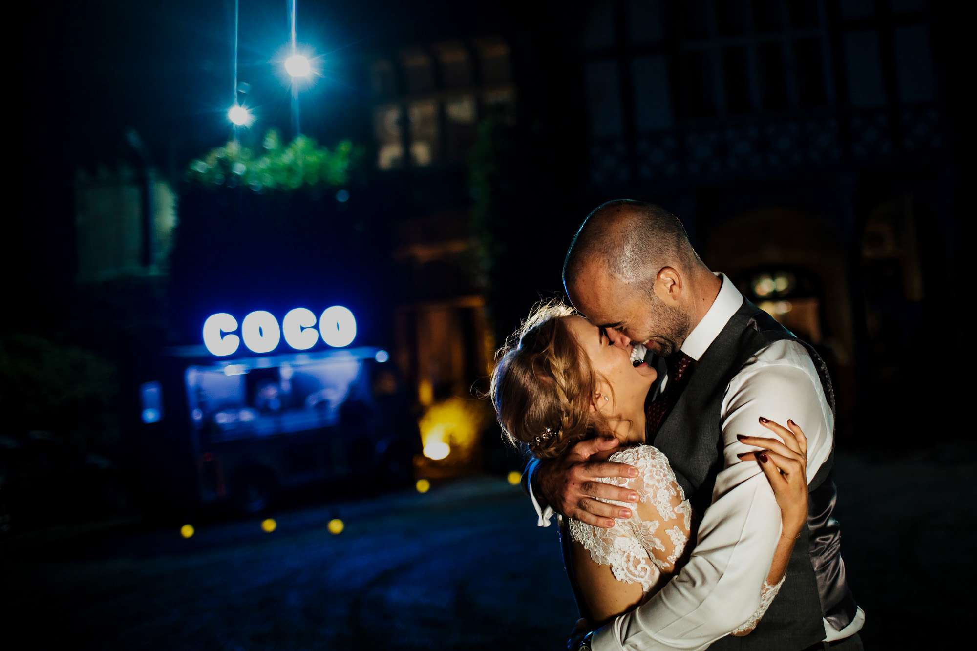 Bride and groom in love at a Cowdray House wedding