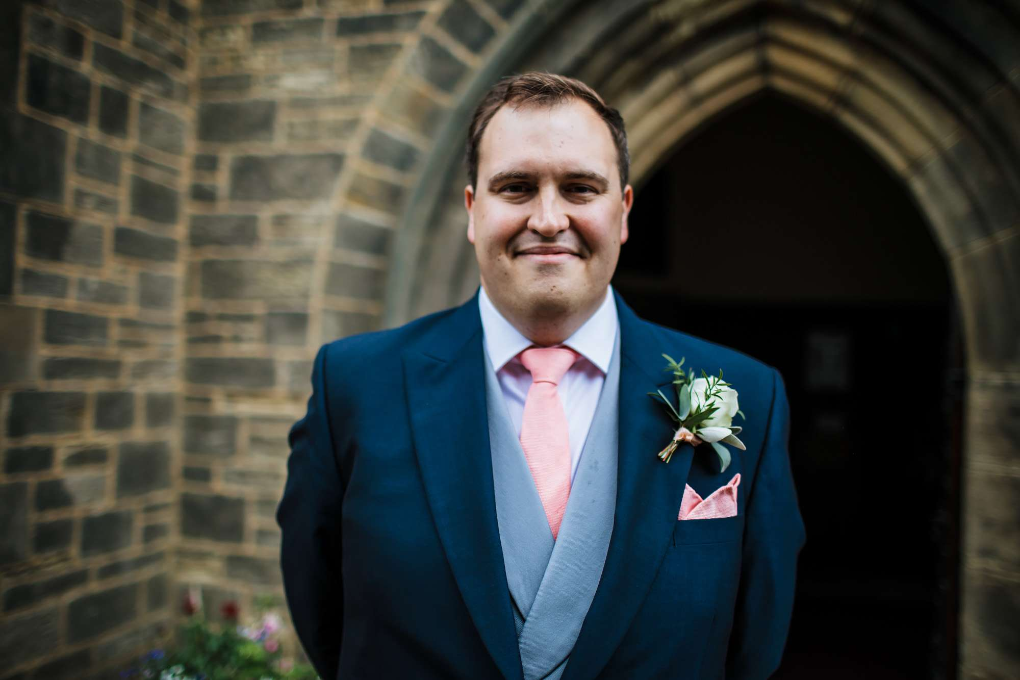 Portrait of a groom on his wedding day