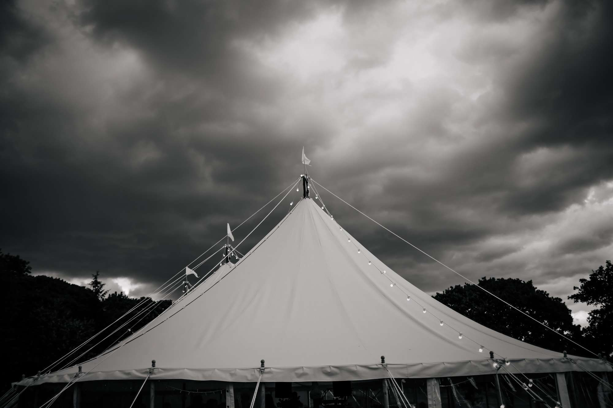 Wedding marquee in Yorkshire