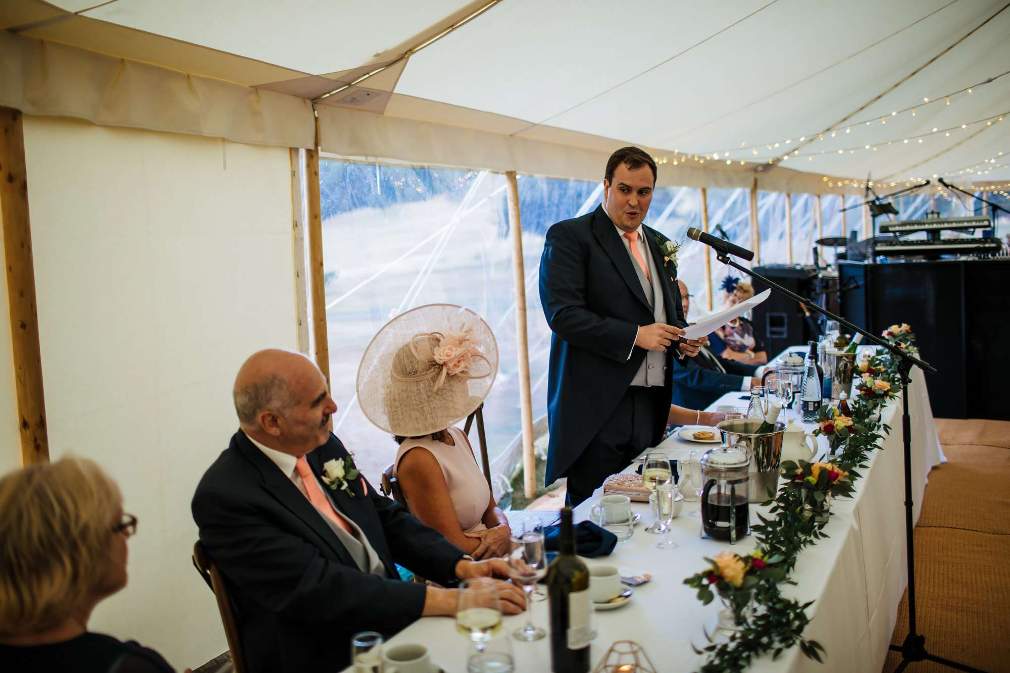 Groom's wedding speech at Fixby Hall
