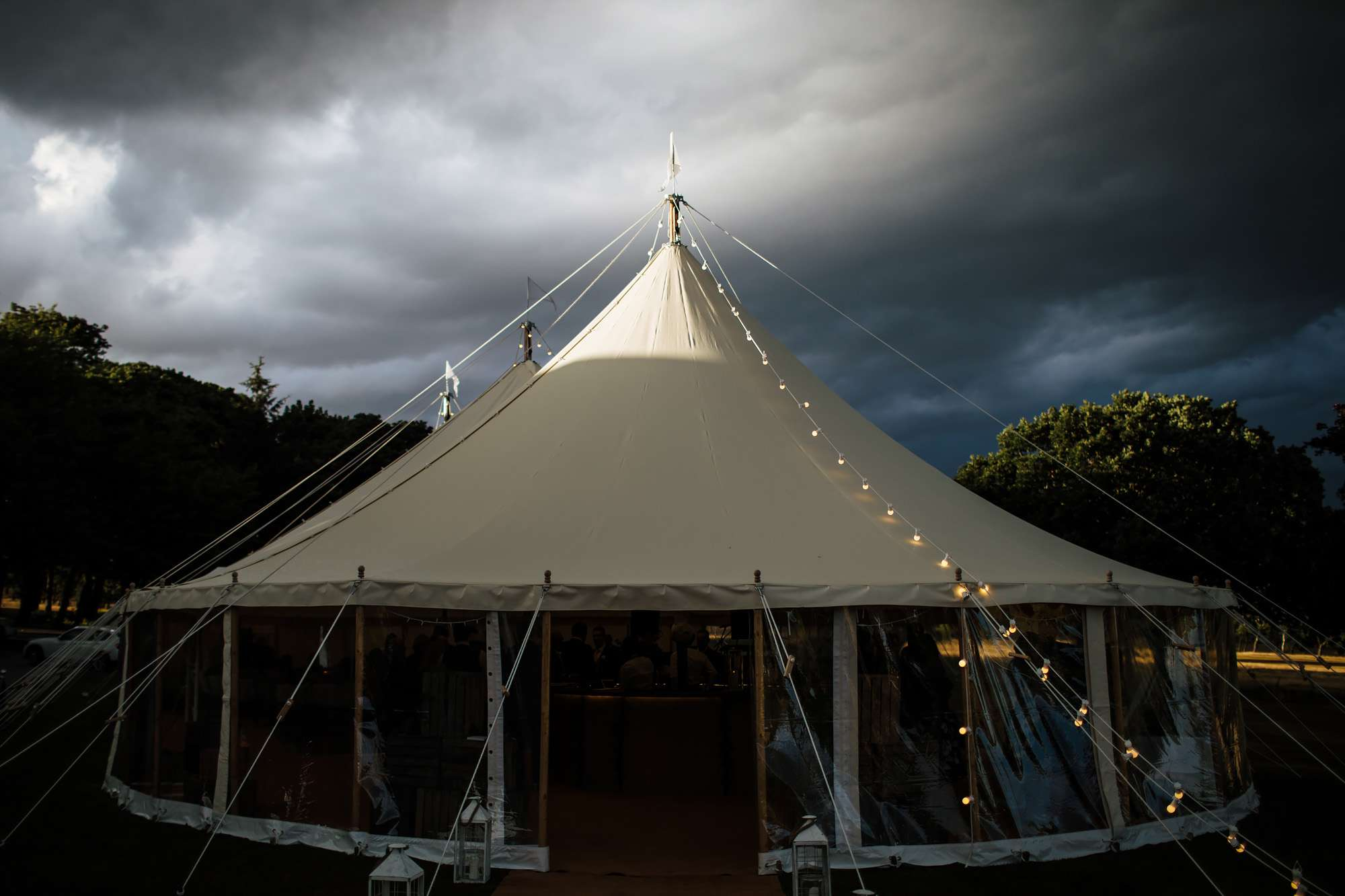 Wedding marquee at Fixby Hall in Huddersfield