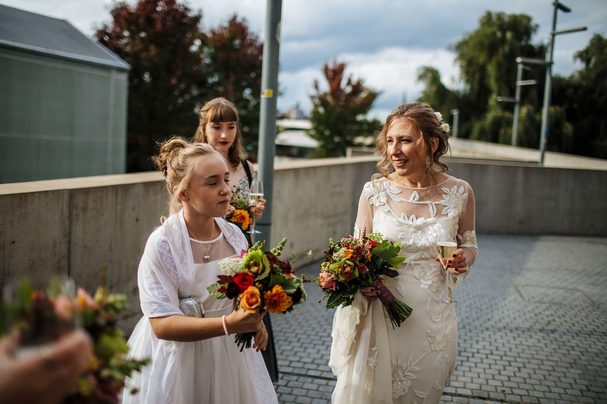 Bride and her daughter before her wedding day