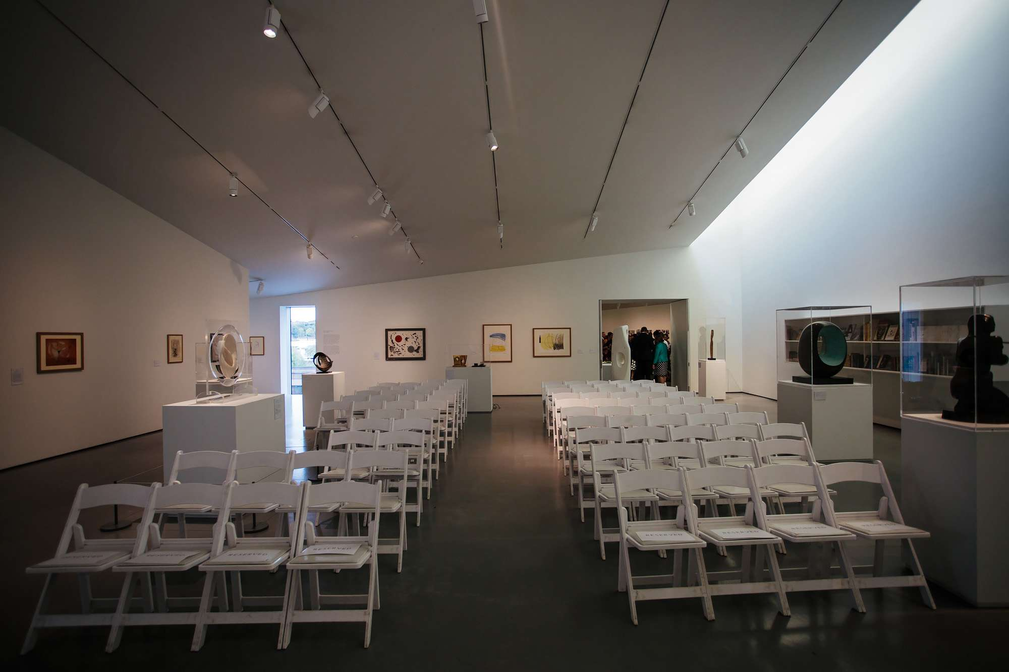 Hepworth Art gallery set up for a wedding