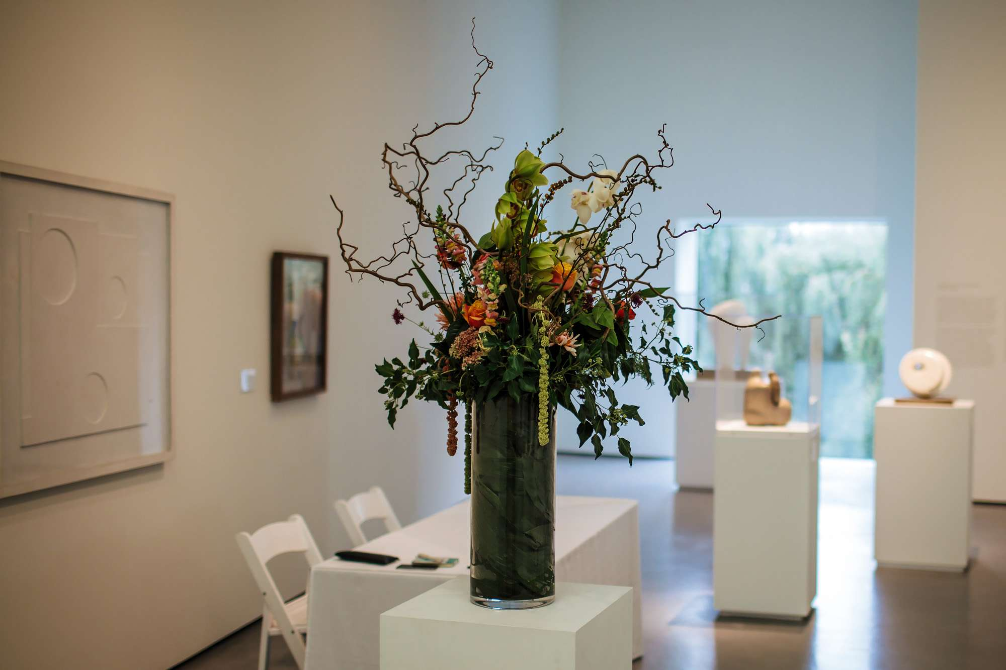 Flowers at a Hepworth Art Gallery wedding