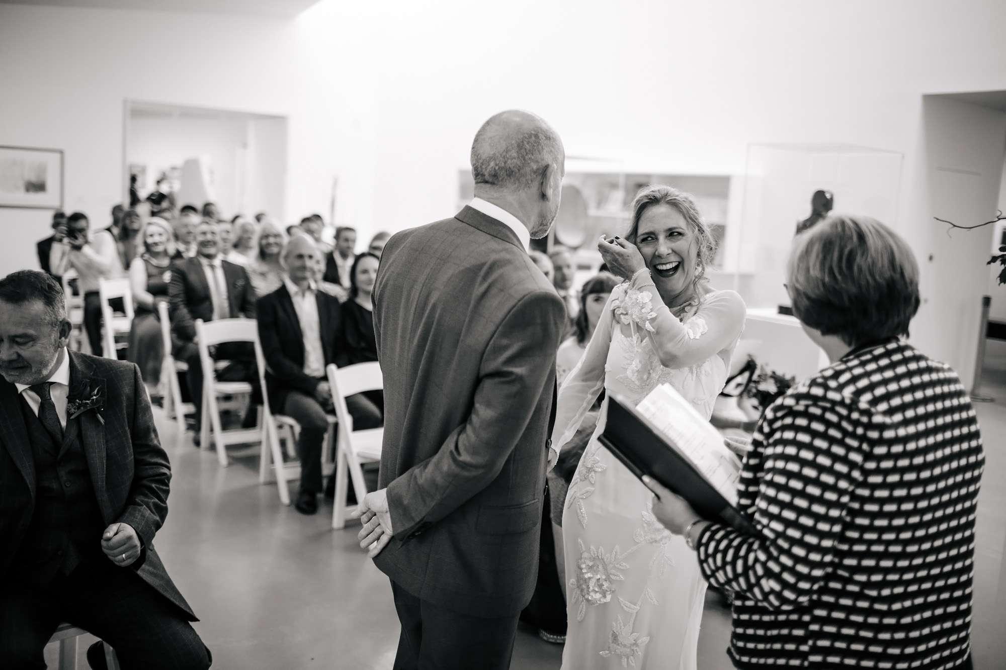 Hepworth Art Gallery wedding in Wakefield