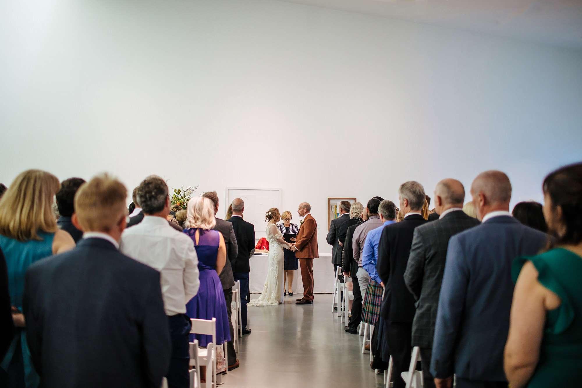 Bride and groom get married at Hepworth Art Gallery Wakefield