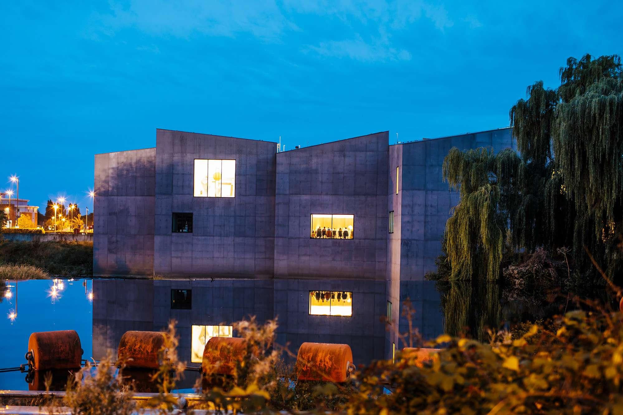 Hepworth Art Gallery at night