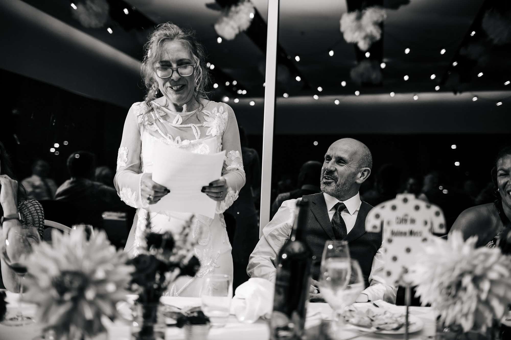 Bride's speech at her wedding