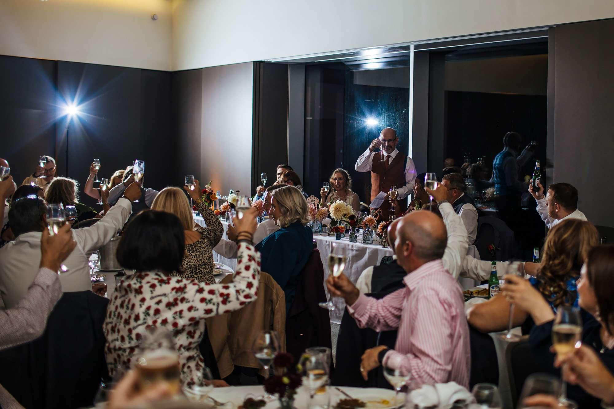 Wedding speeches at Hepworth Art Gallery