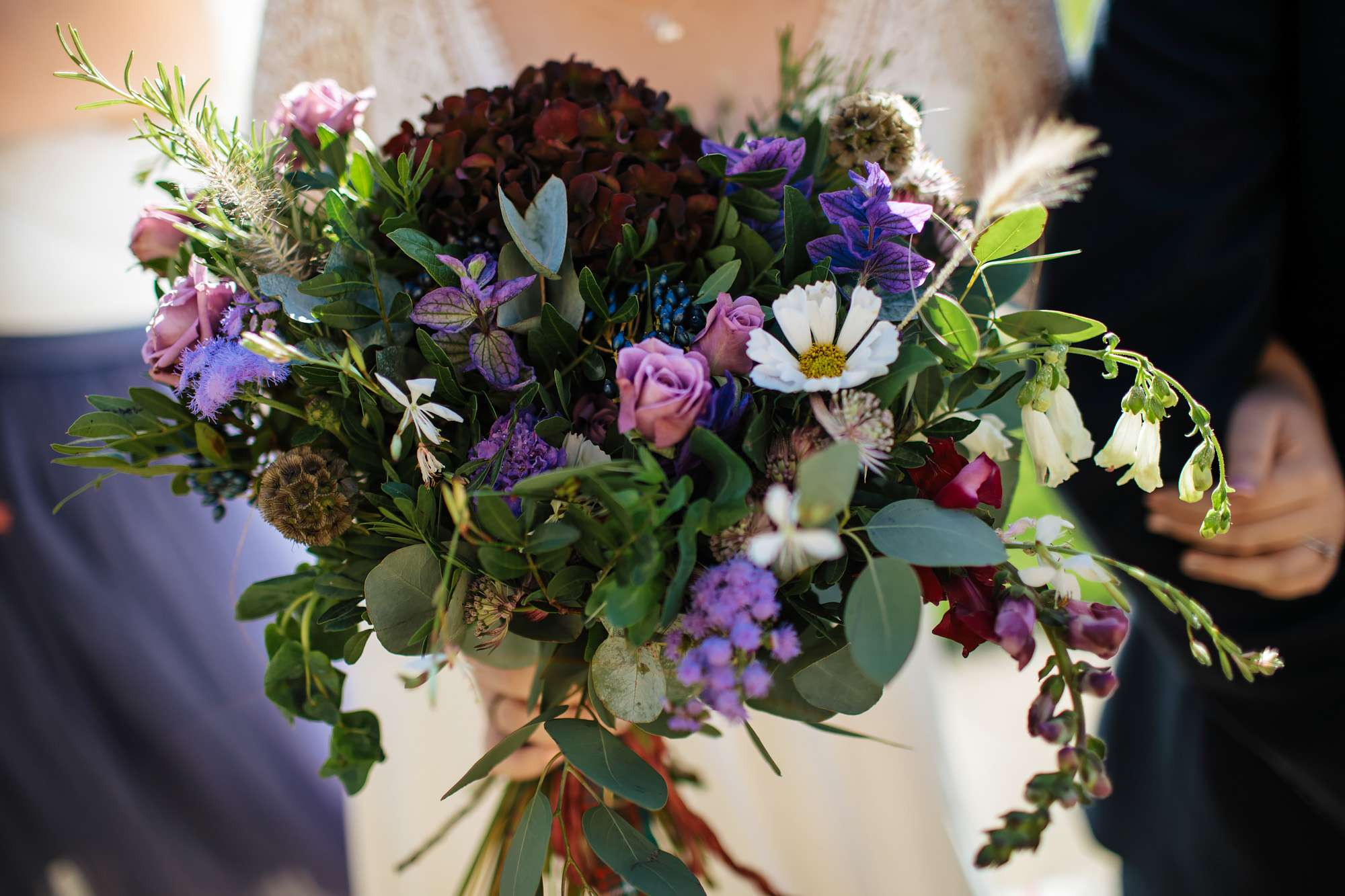Close up of the bride's lovely flower bouquet