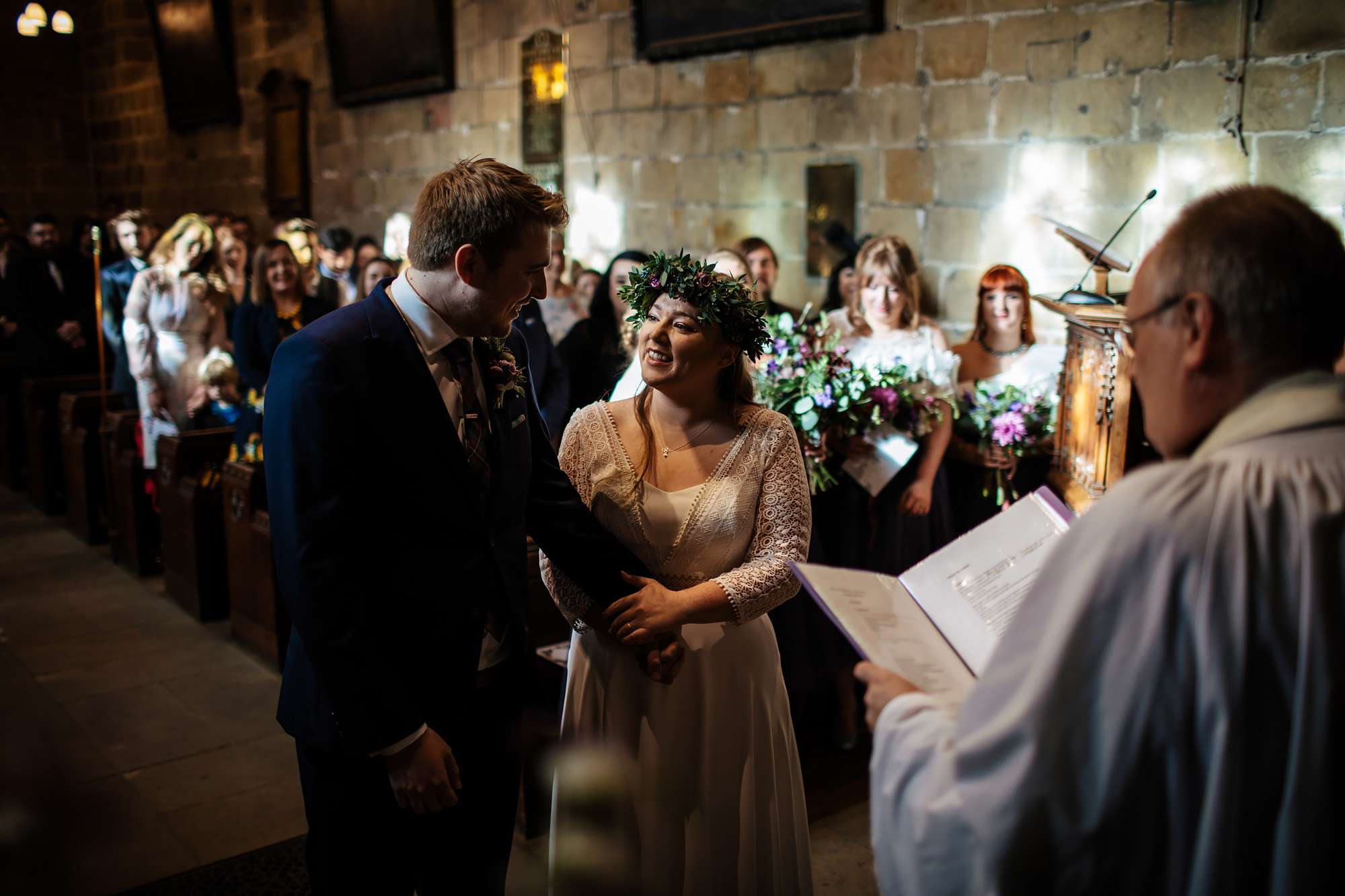 Church wedding ceremony in Leeds Yorkshire