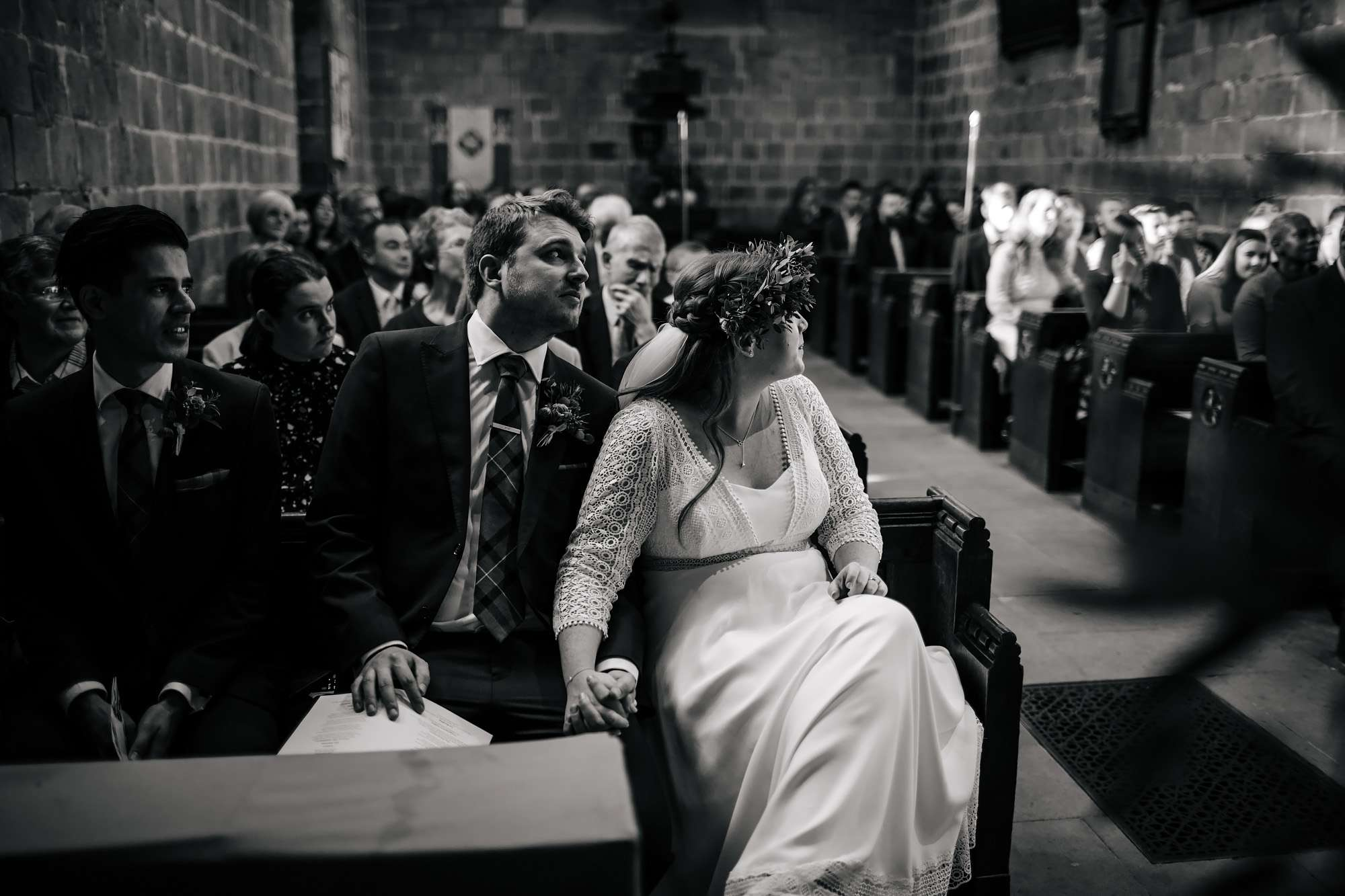 Bride and groom on their wedding day in Leeds
