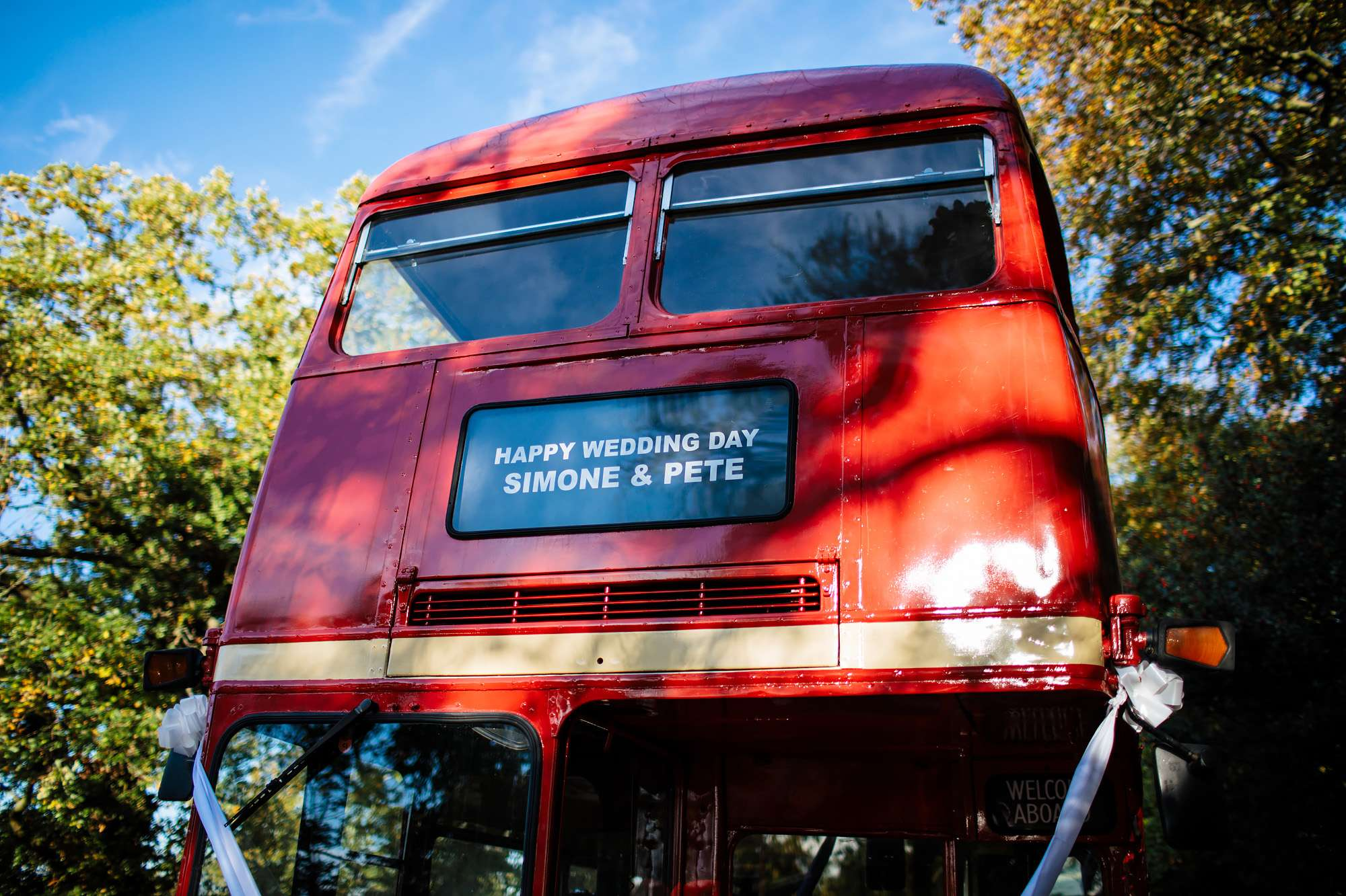Vintage wedding bus in Leeds