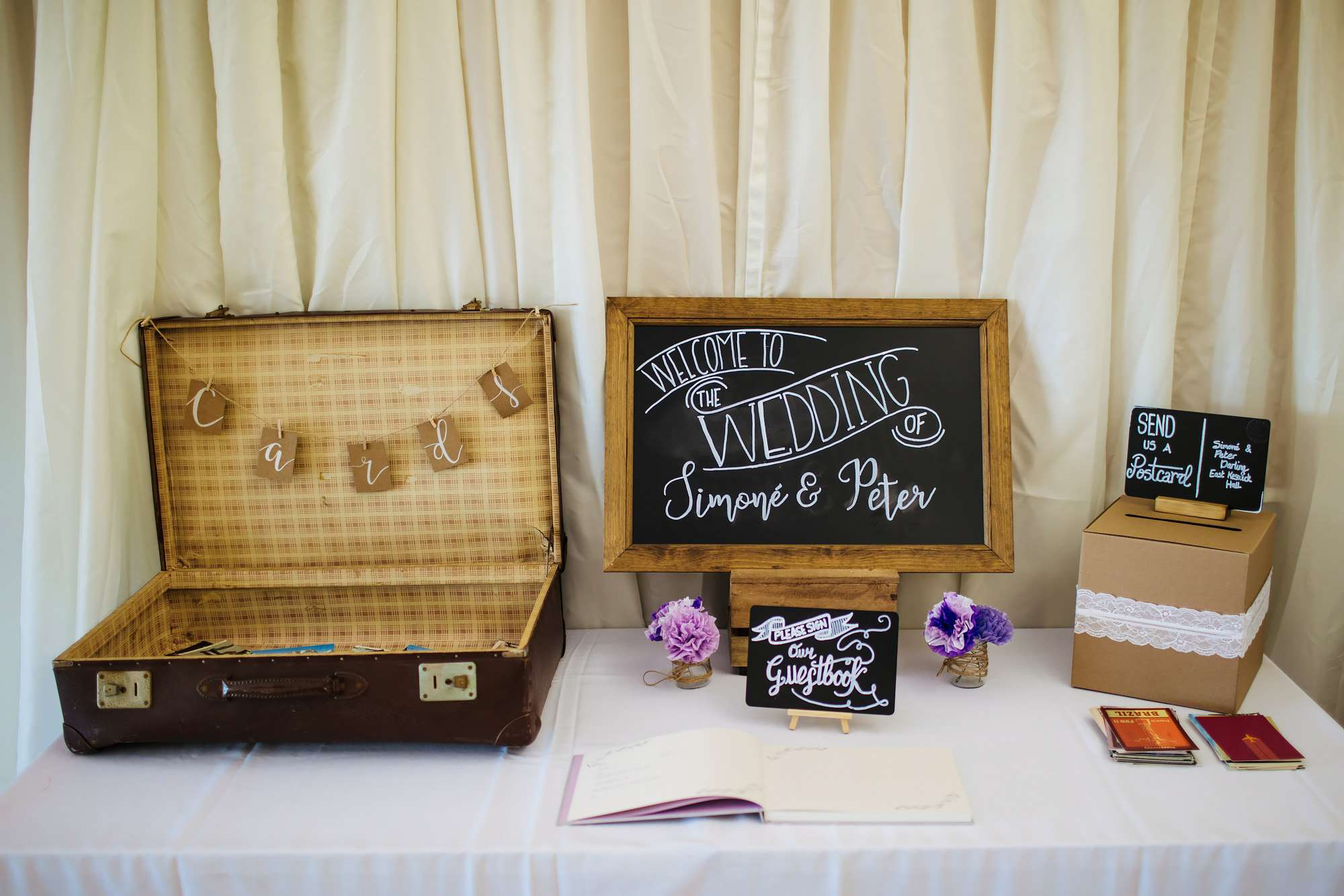 Wedding details and cards