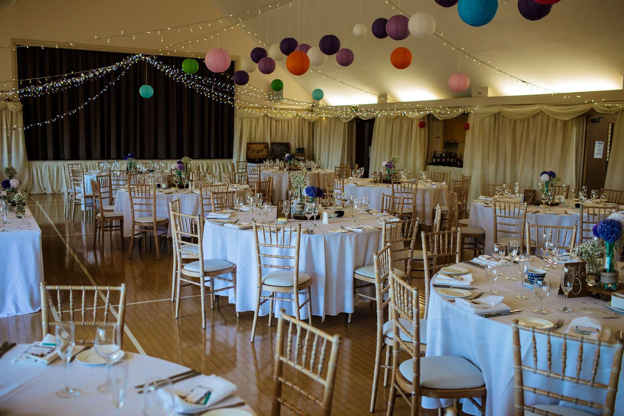 Gorgeous wedding set up at a Leeds venue