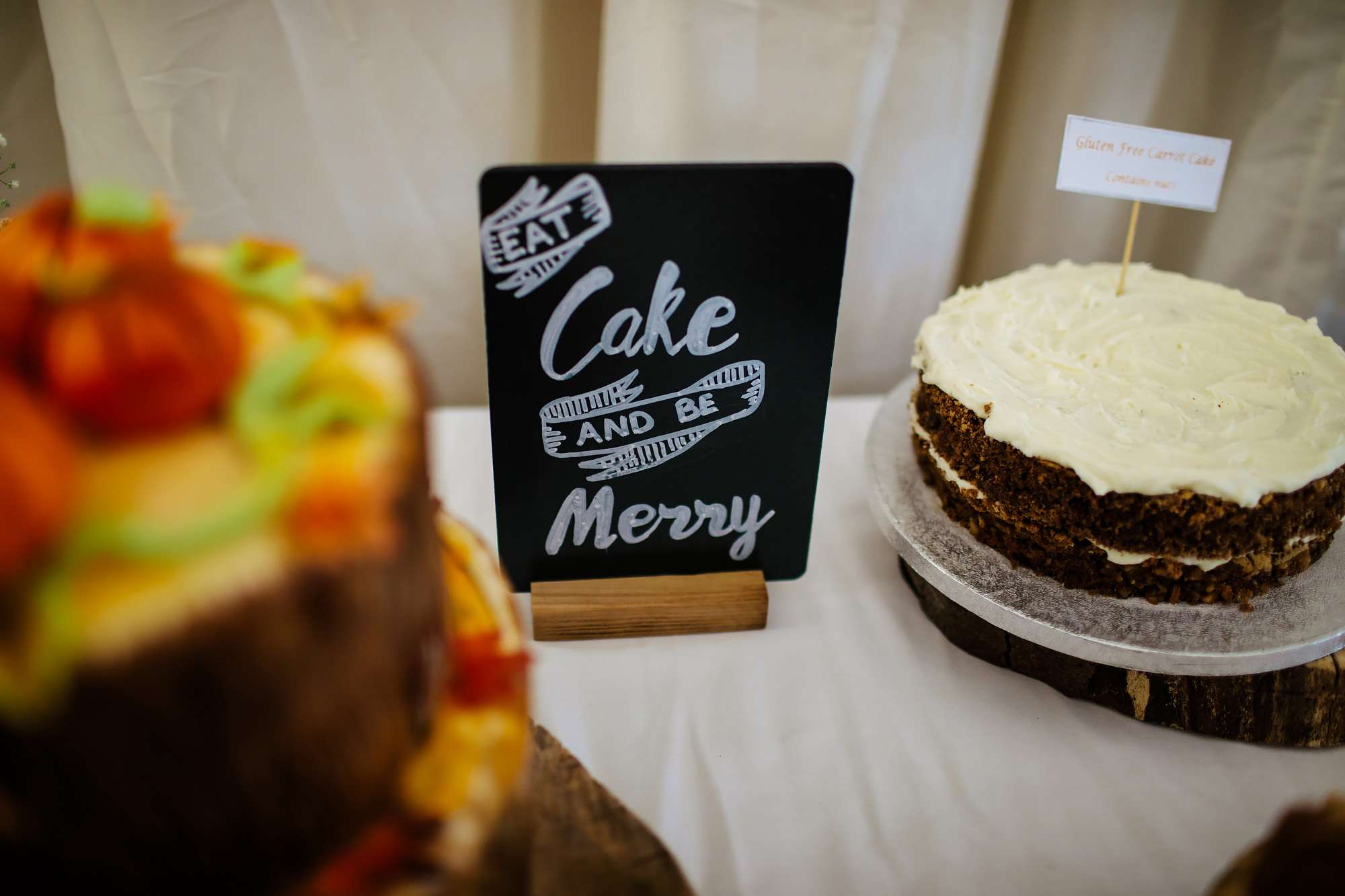 Eat cake and be merry sign