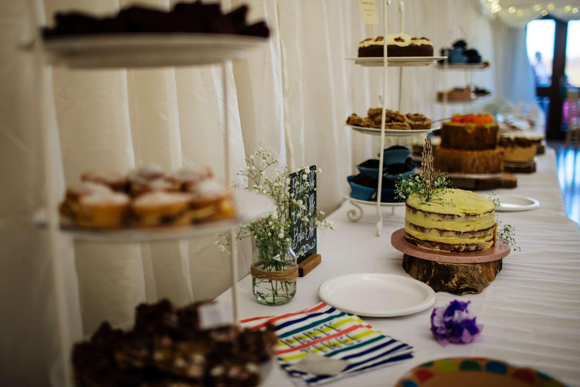 Dessert table at a Leeds wedding