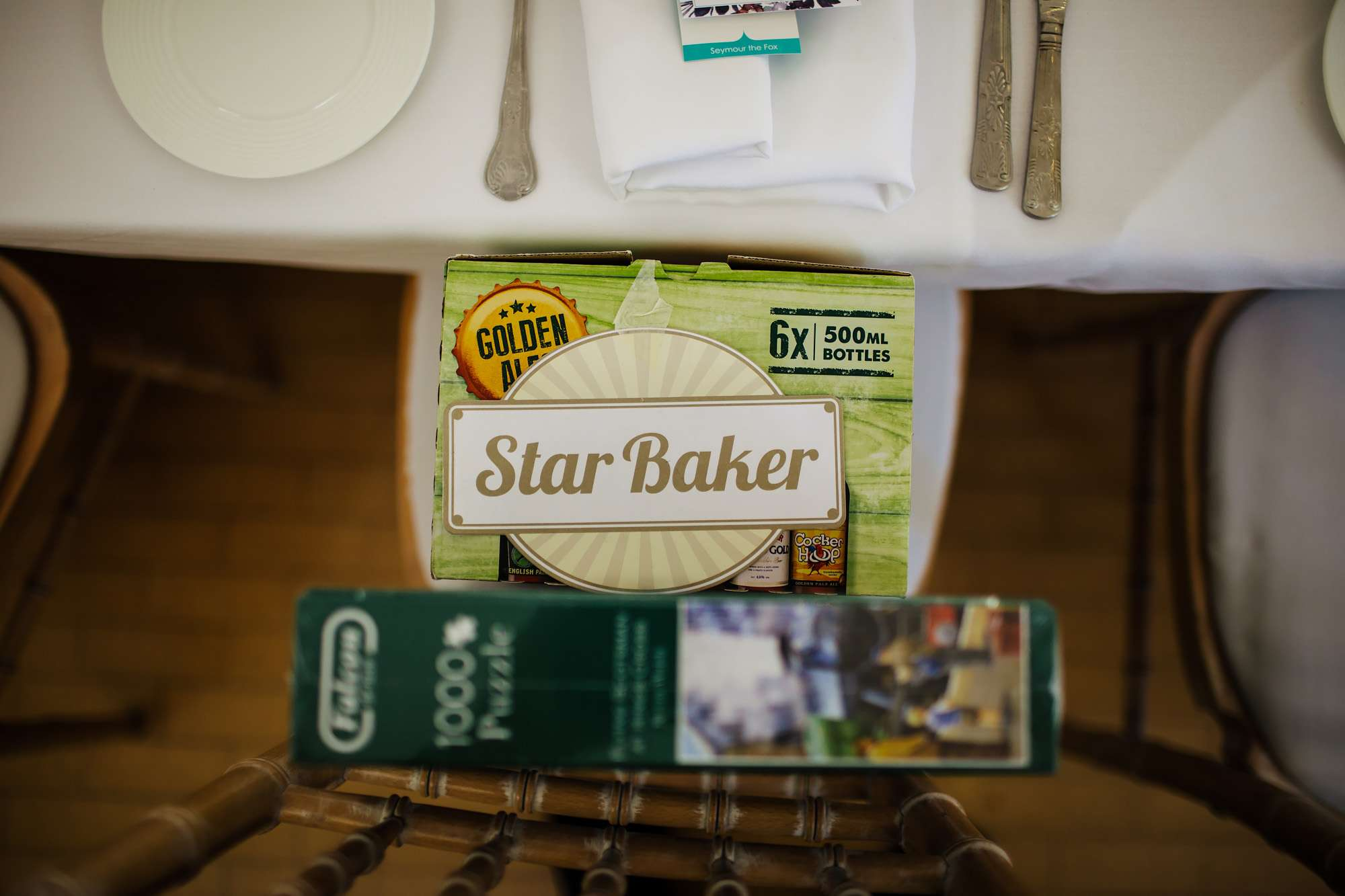 Star baker prize at a wedding