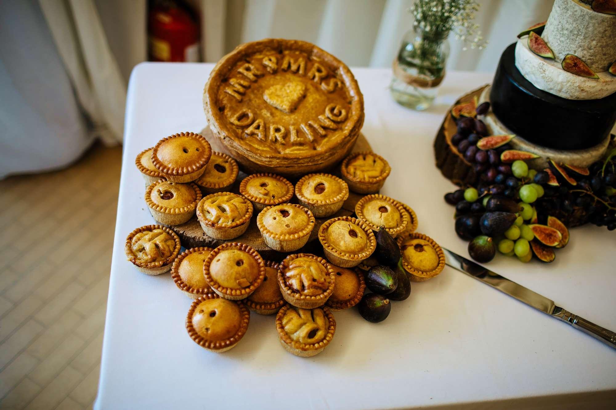 Personalised pork pie cake for a Leeds wedding