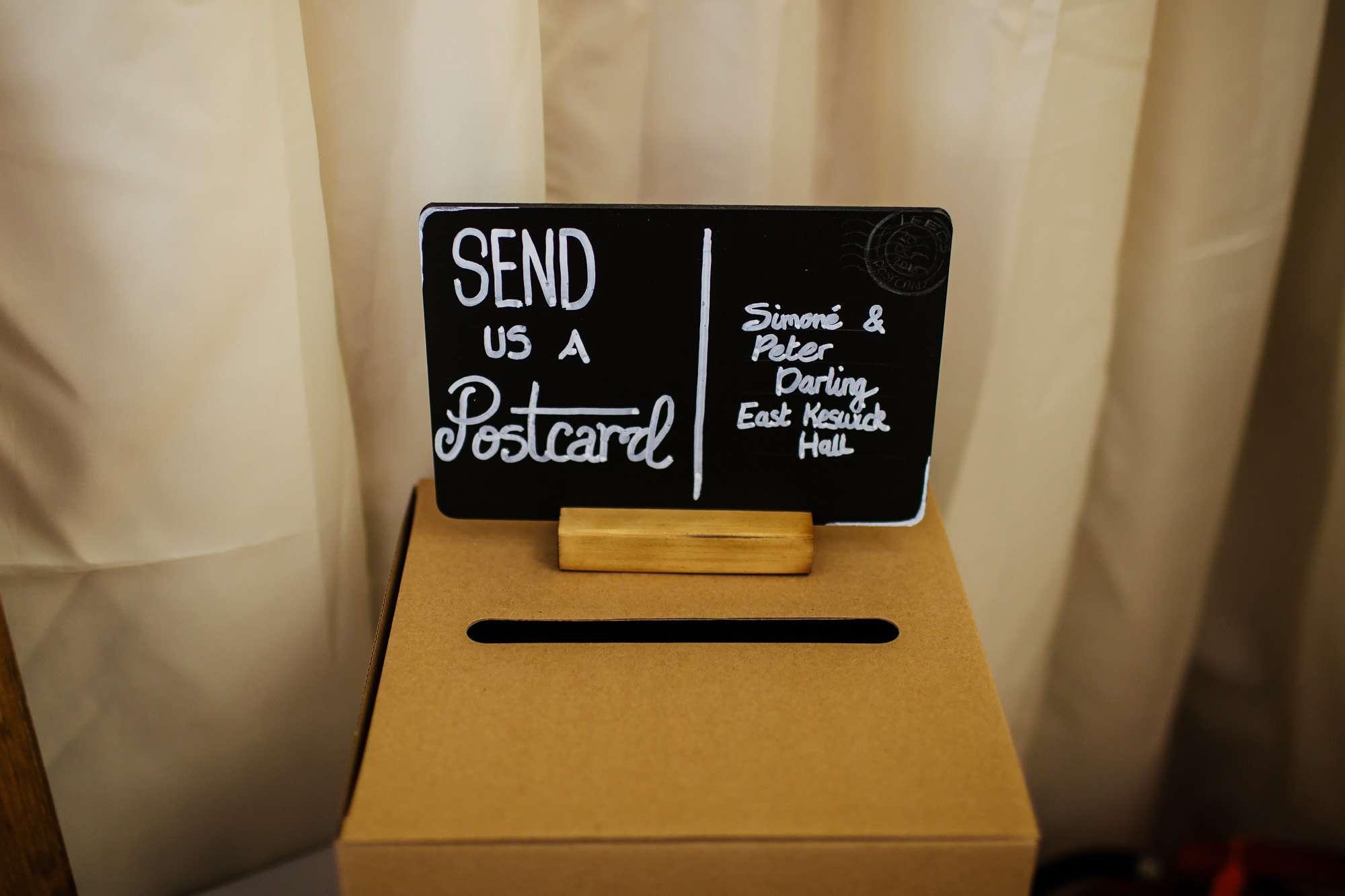 Wedding Postcards and postbox