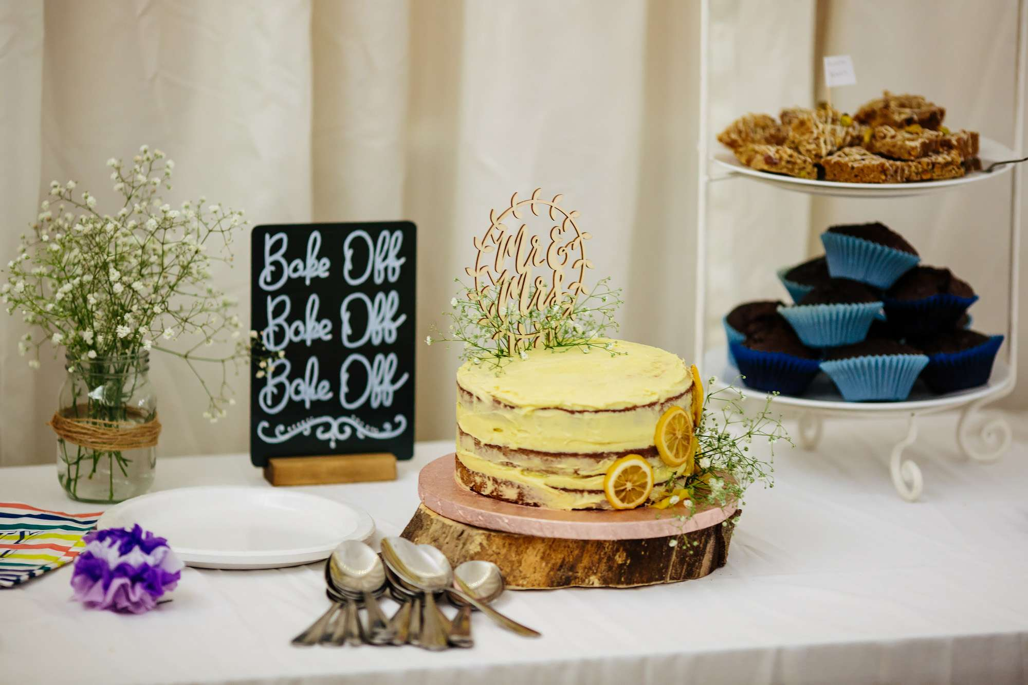 Bake off themed Leeds wedding with lots of cake